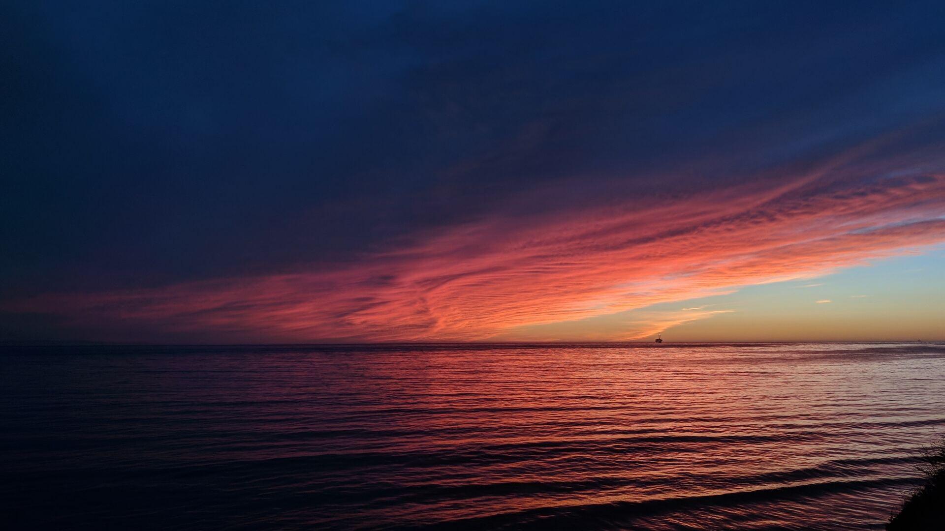 1920x1080 Sea Ocean Sunset Reflection Pastel Waves Laptop ...