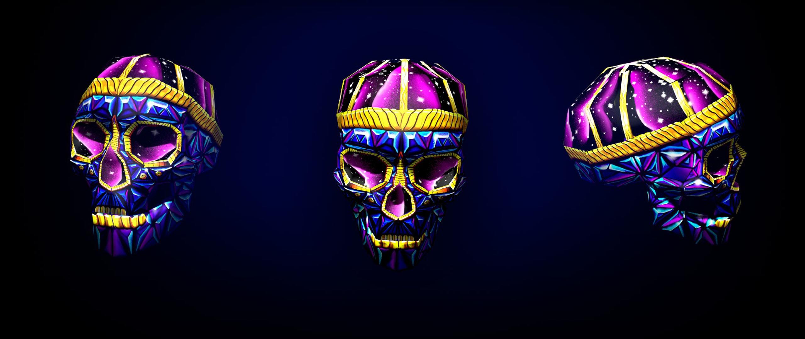 Skull 3d Wallpaper: Skull 3d Art Bright, HD 3D, 4k Wallpapers, Images