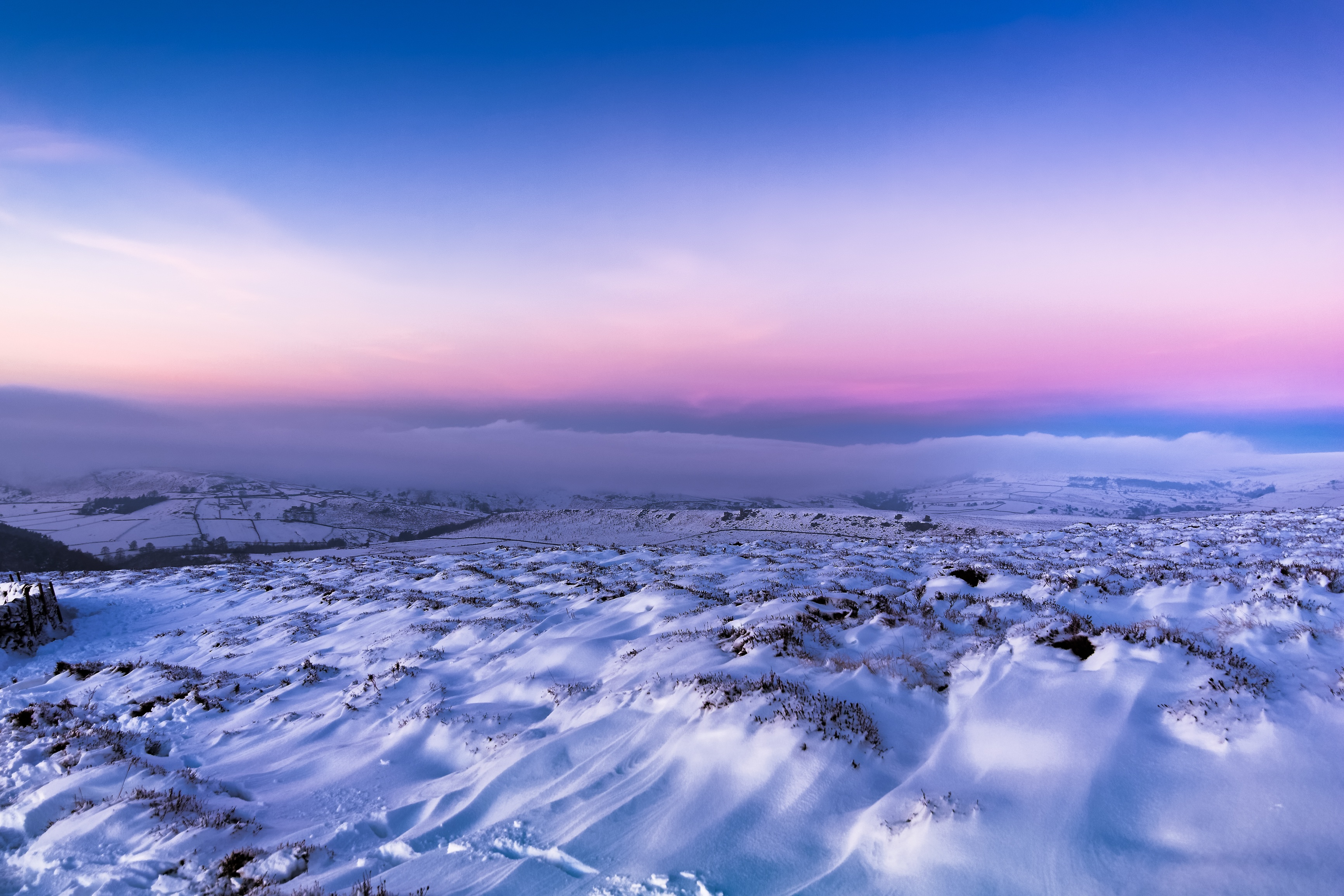 Snow Twilight Clear Sky, HD Nature, 4k Wallpapers, Images