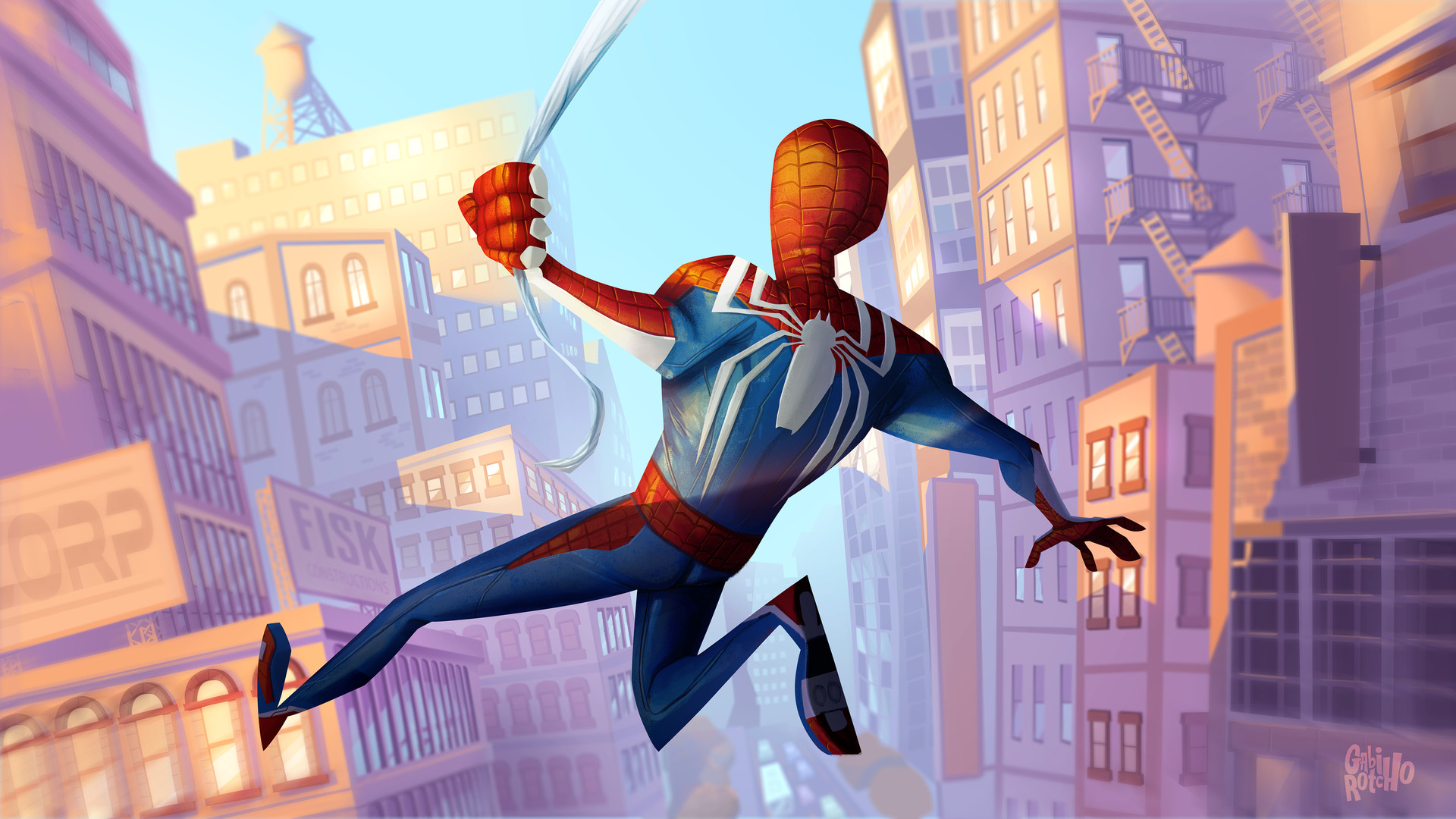Wallpaper Spider Man 2099 Fan Art 4k Creative Graphics: Spider Man Ps4 Fanart, HD Games, 4k Wallpapers, Images