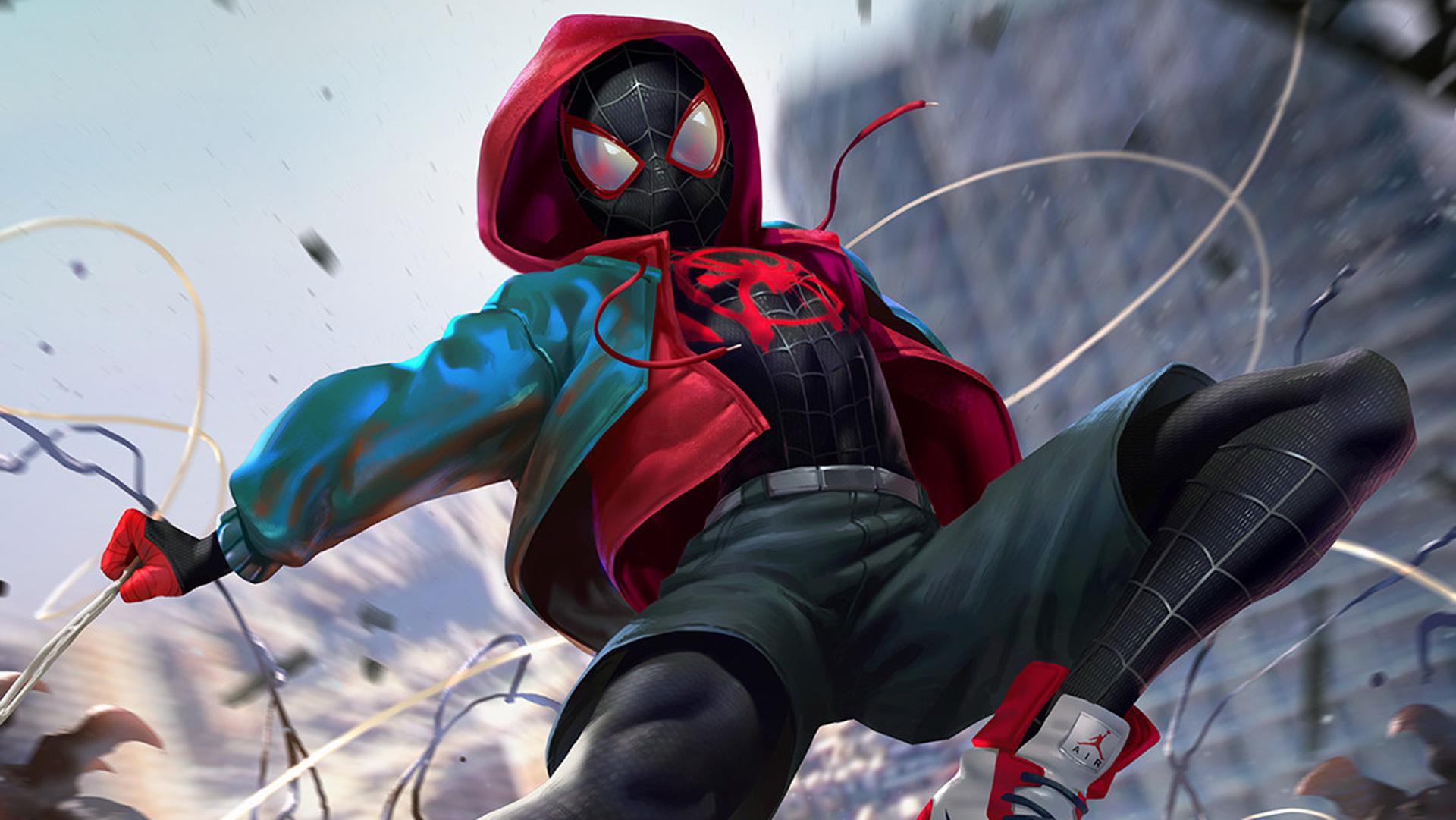 SpiderMan Into The Spider Verse Digital Art 2018, HD