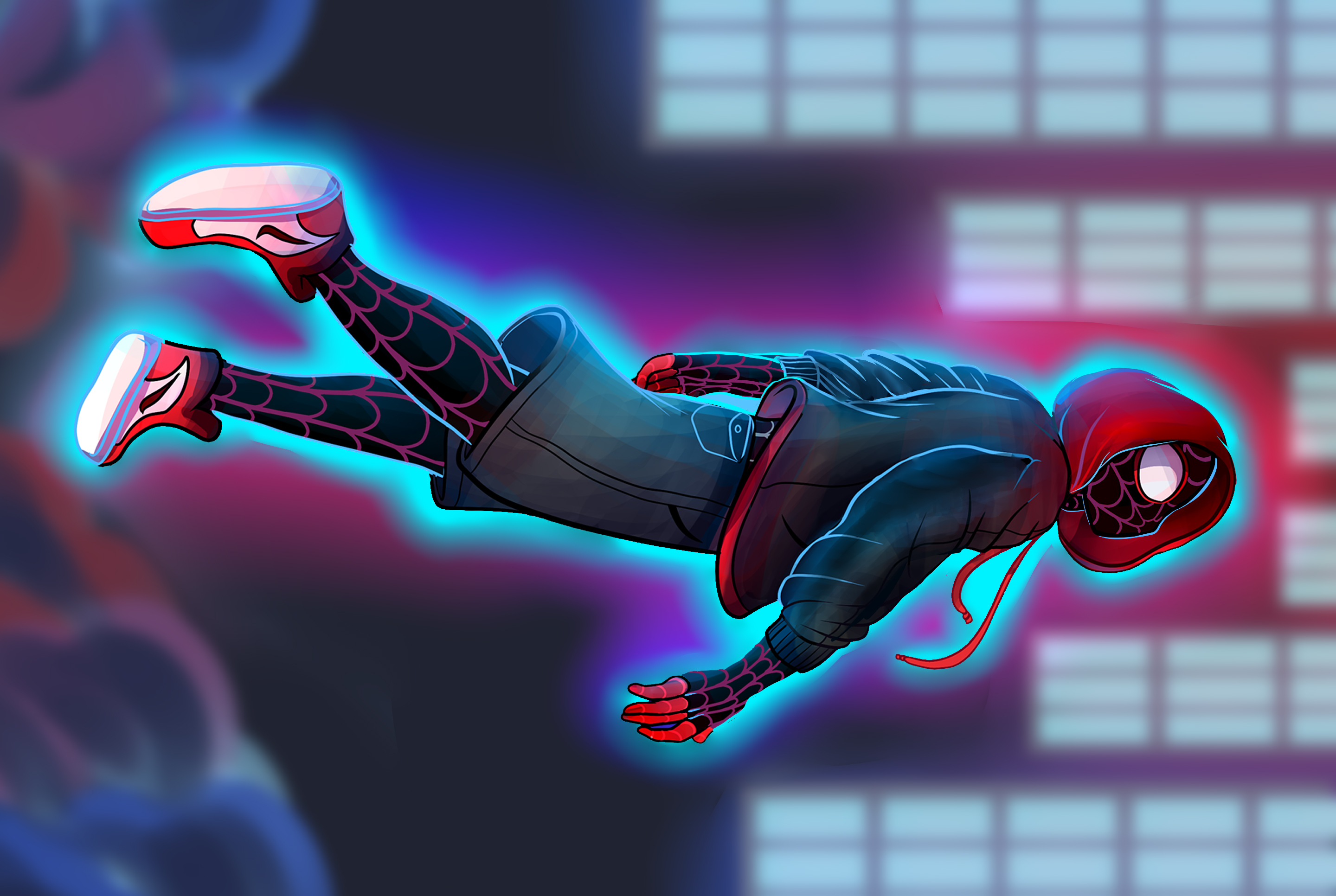 SpiderMan Into The Spider Verse Fan Art, HD Games, 4k