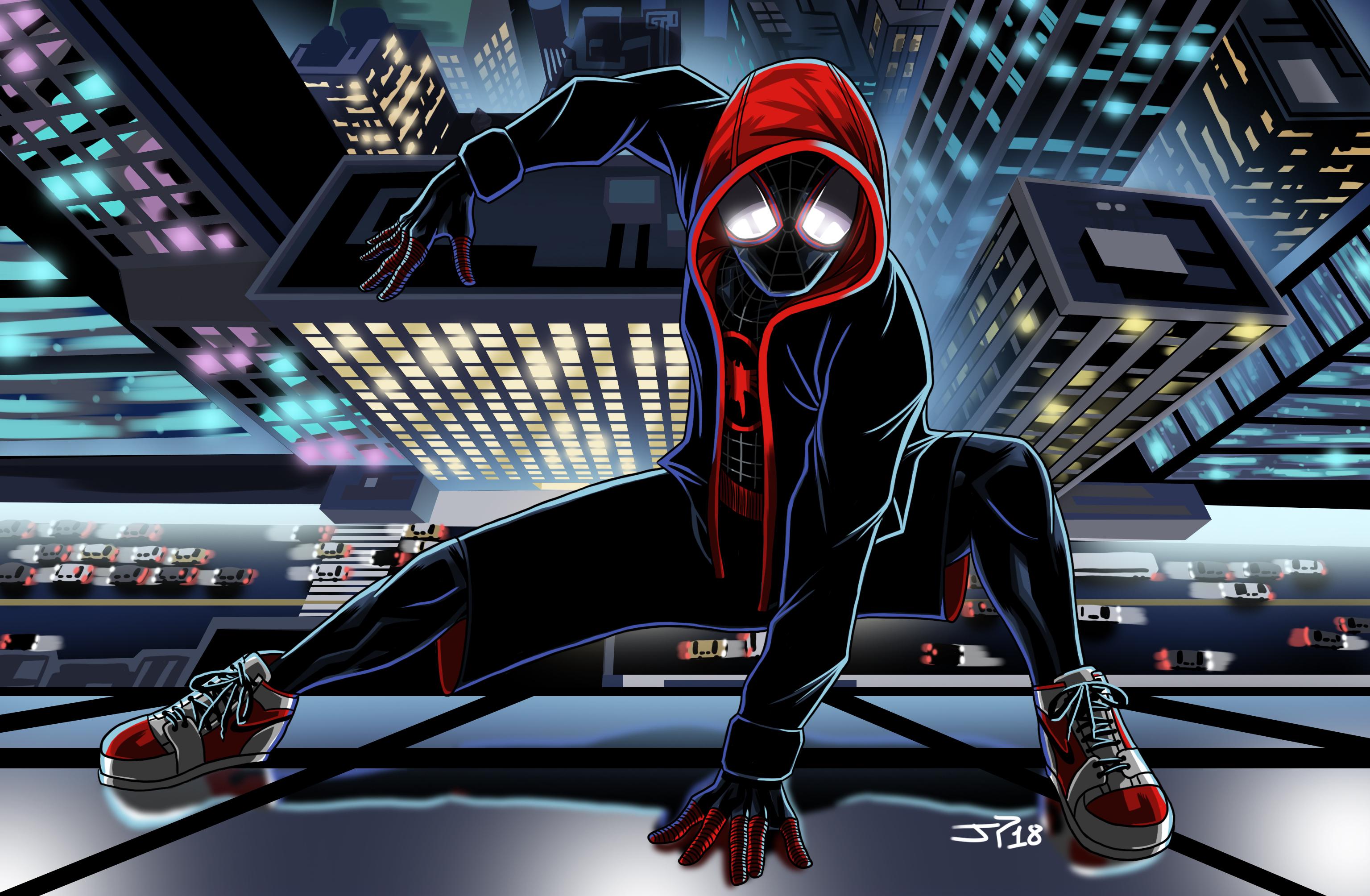 2048x1152 SpiderMan Into The Spider Verse Movie Art