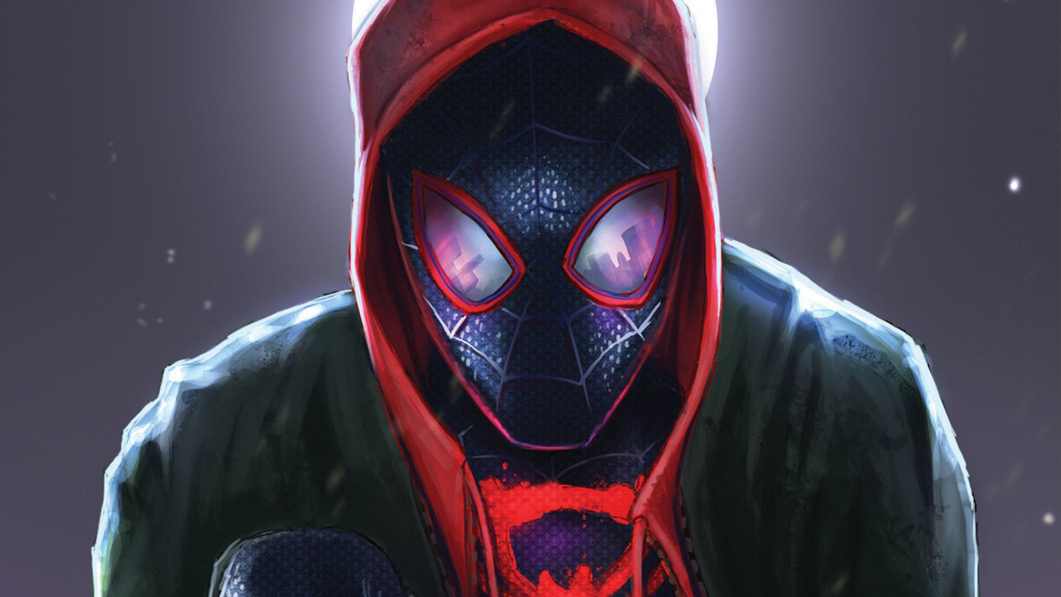 SpiderMan Into The Spider Verse Movie Art 2018, HD