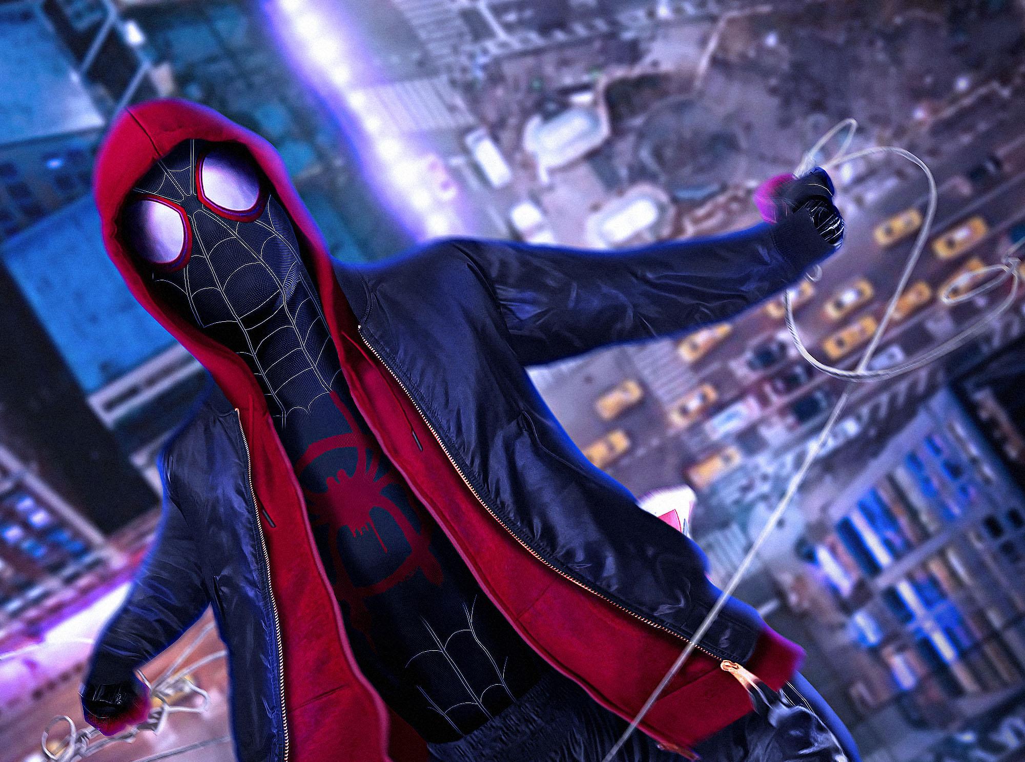 1024x768 SpiderMan Into The Spider Verse Movie Cosplay