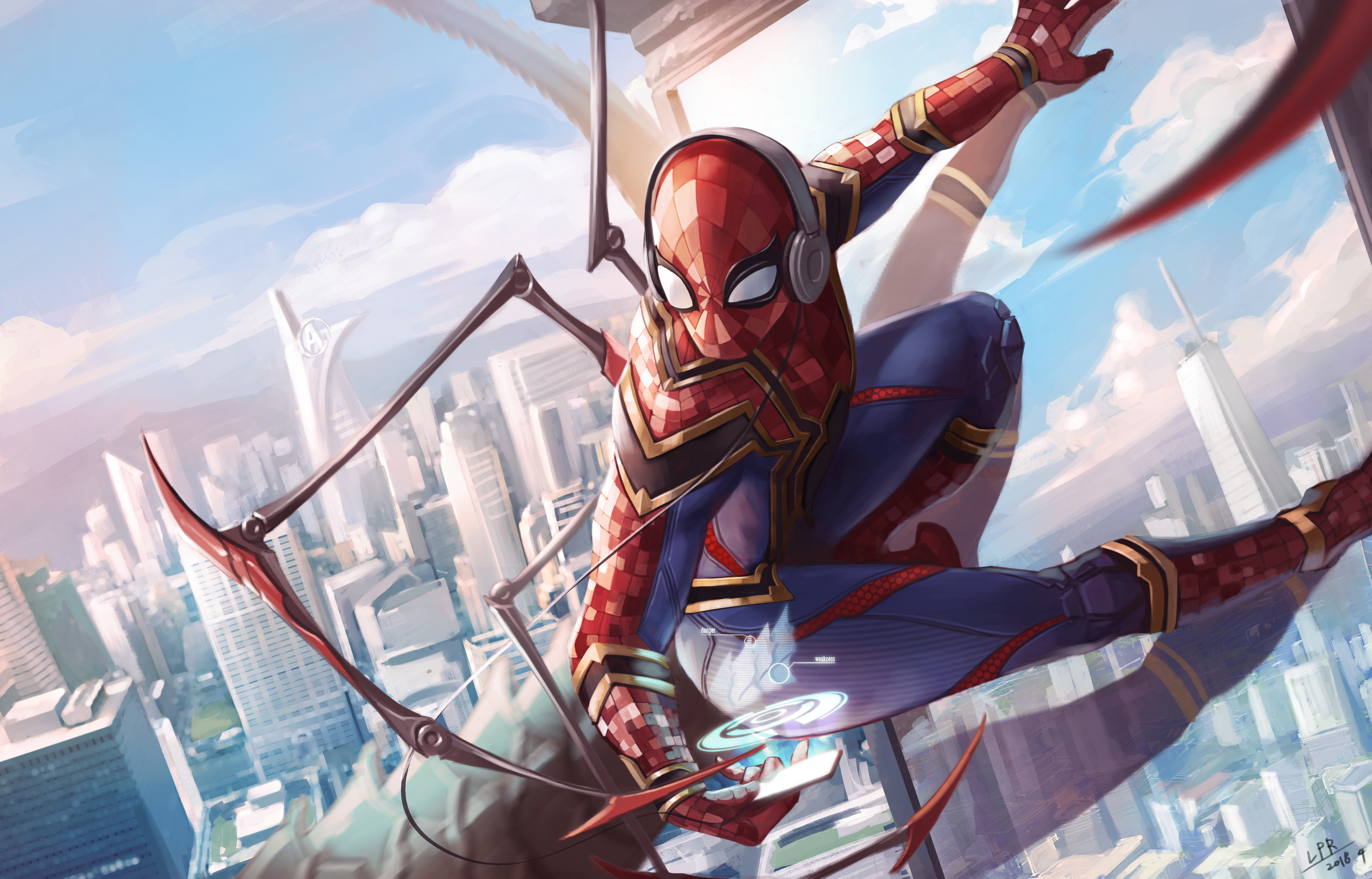 1360x768 spiderman iron suit art 5k laptop hd hd 4k - Iron man spiderman wallpaper ...