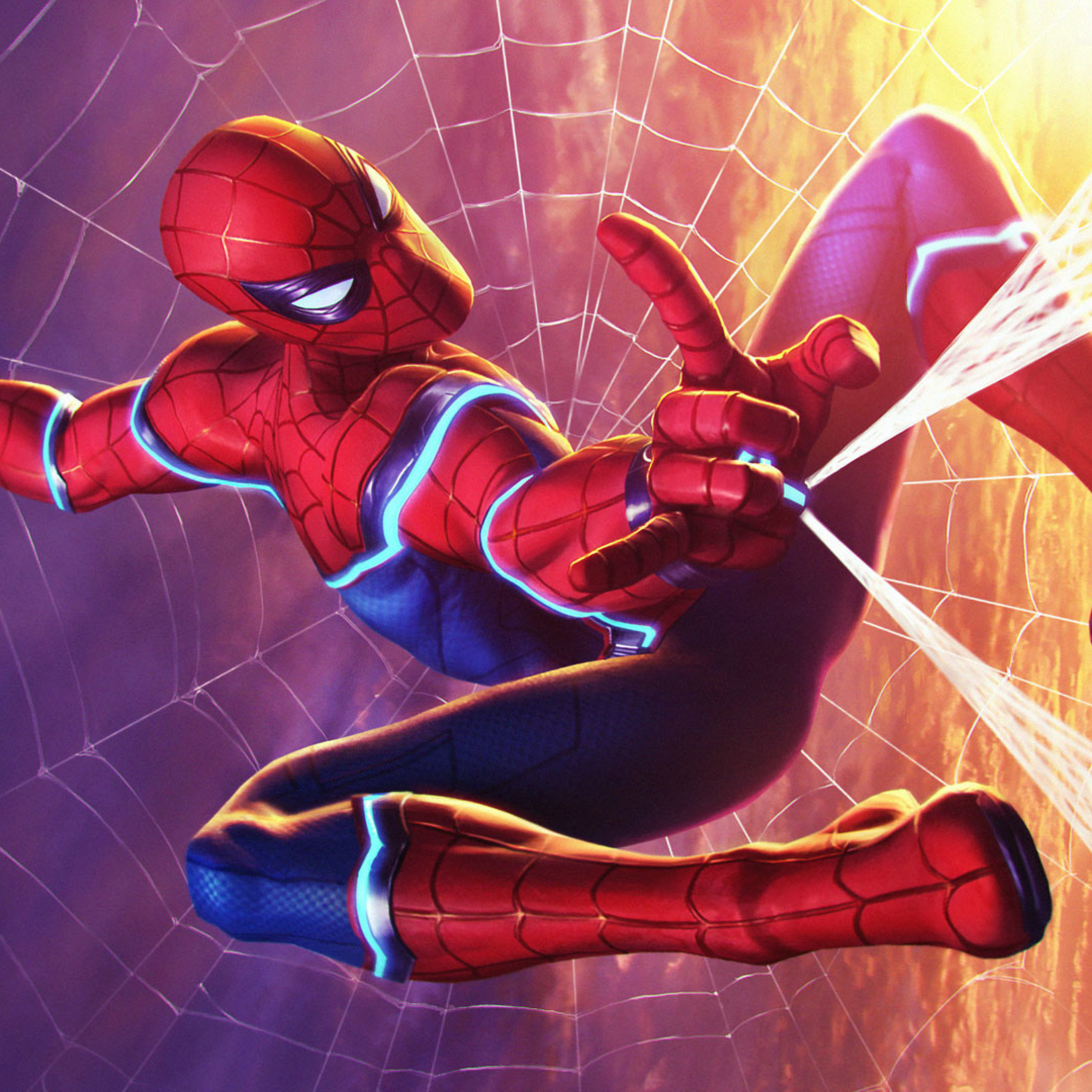 2932x2932 Spiderman Marvel Contest Of Champions Ipad Pro