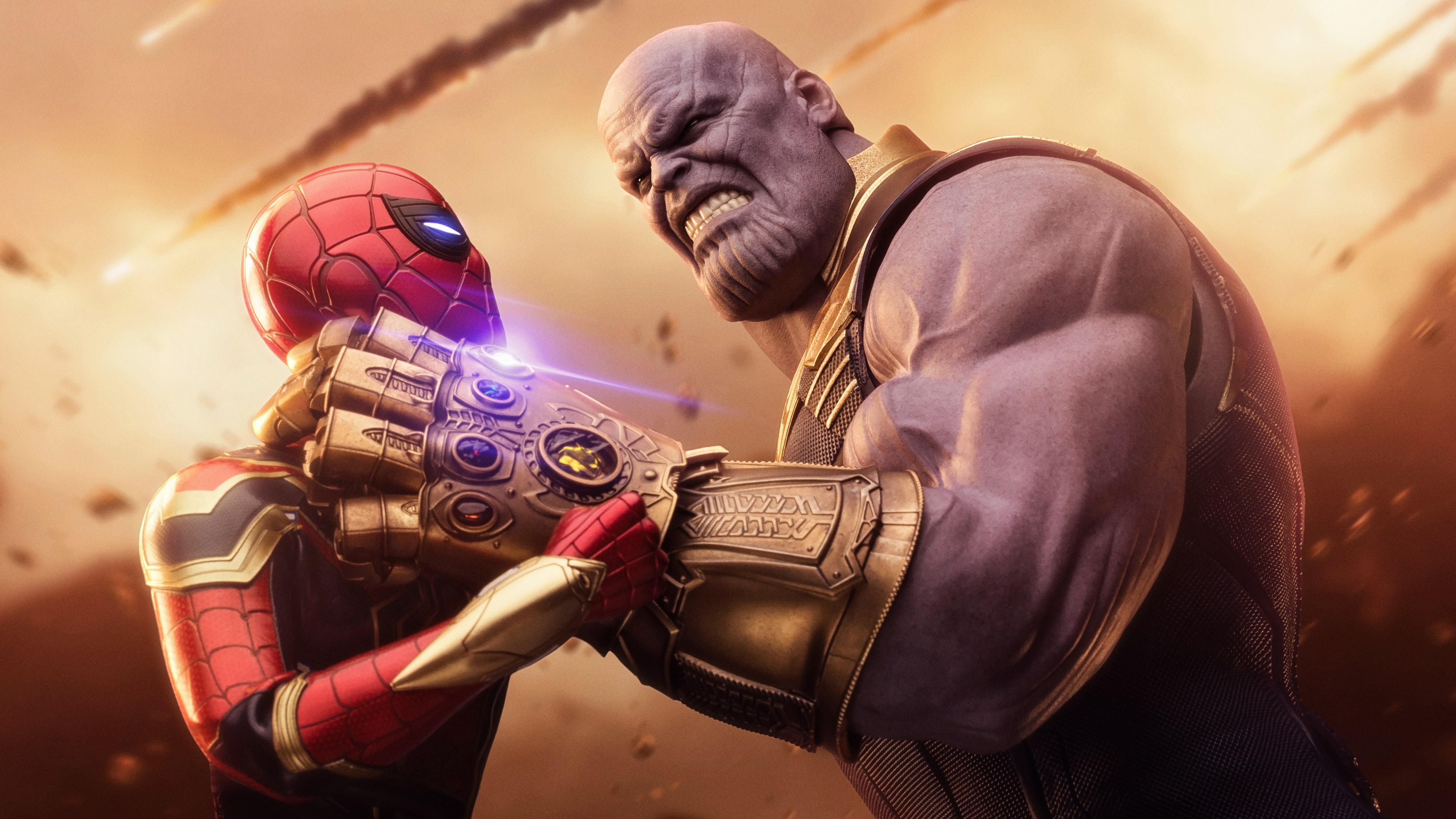 Spiderman thanos avengers infinity war hd superheroes 4k wallpapers images backgrounds - Infinity war hd download ...