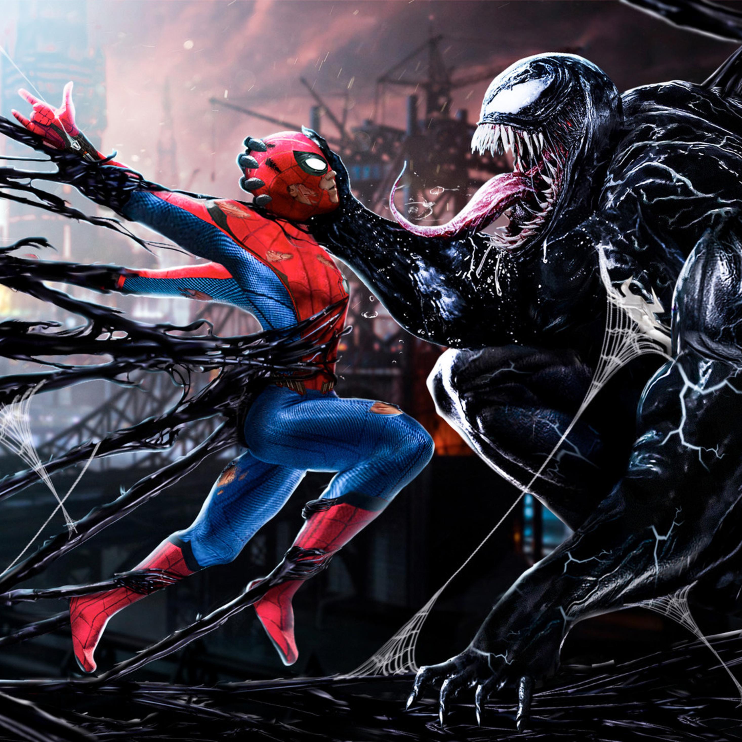 Venom Wallpapers: 2932x2932 Spiderman Vs Venom Digital Art Ipad Pro Retina