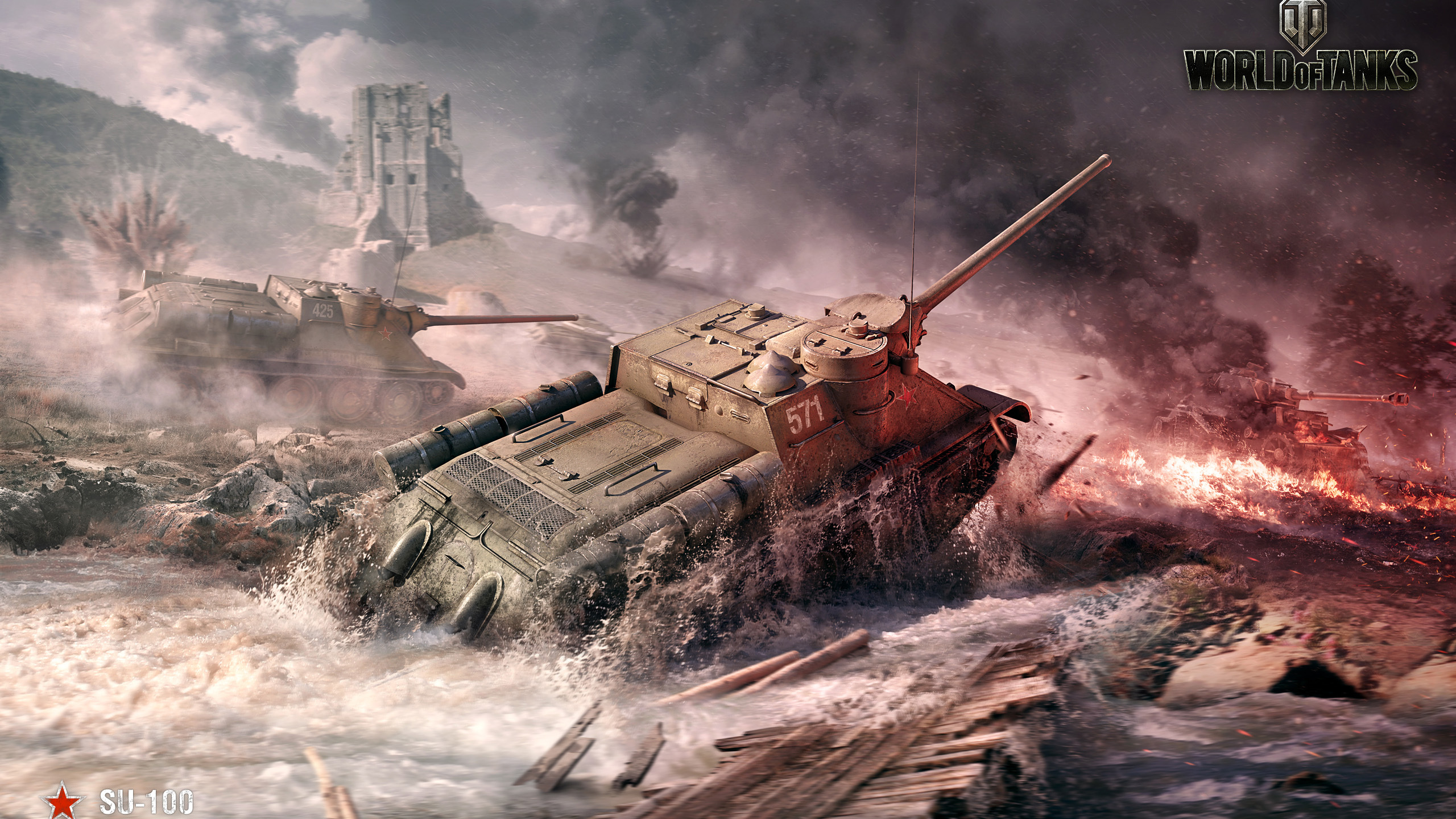 2560x1440 SU 100 World Of Tanks 1440P Resolution HD 4k ...