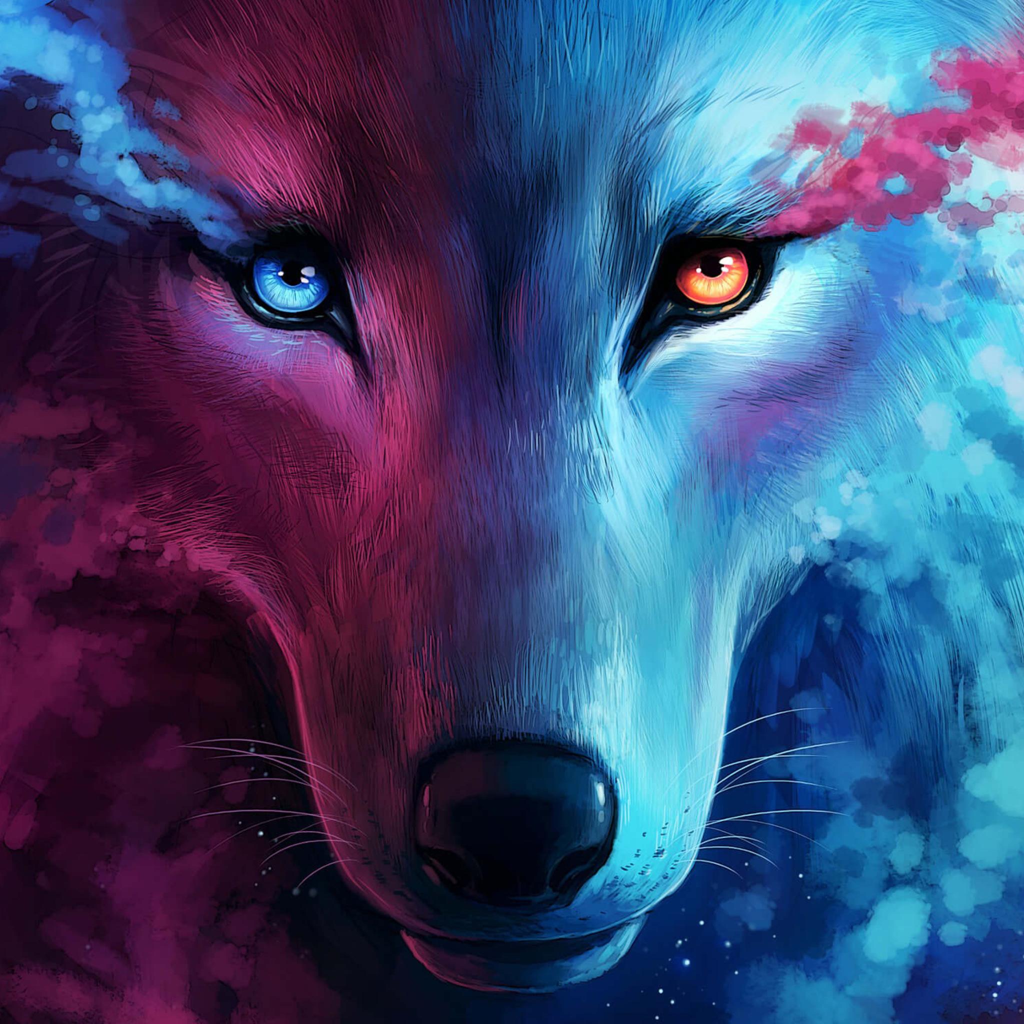 2048x2048 The Galaxy Wolf Ipad Air HD 4k Wallpapers
