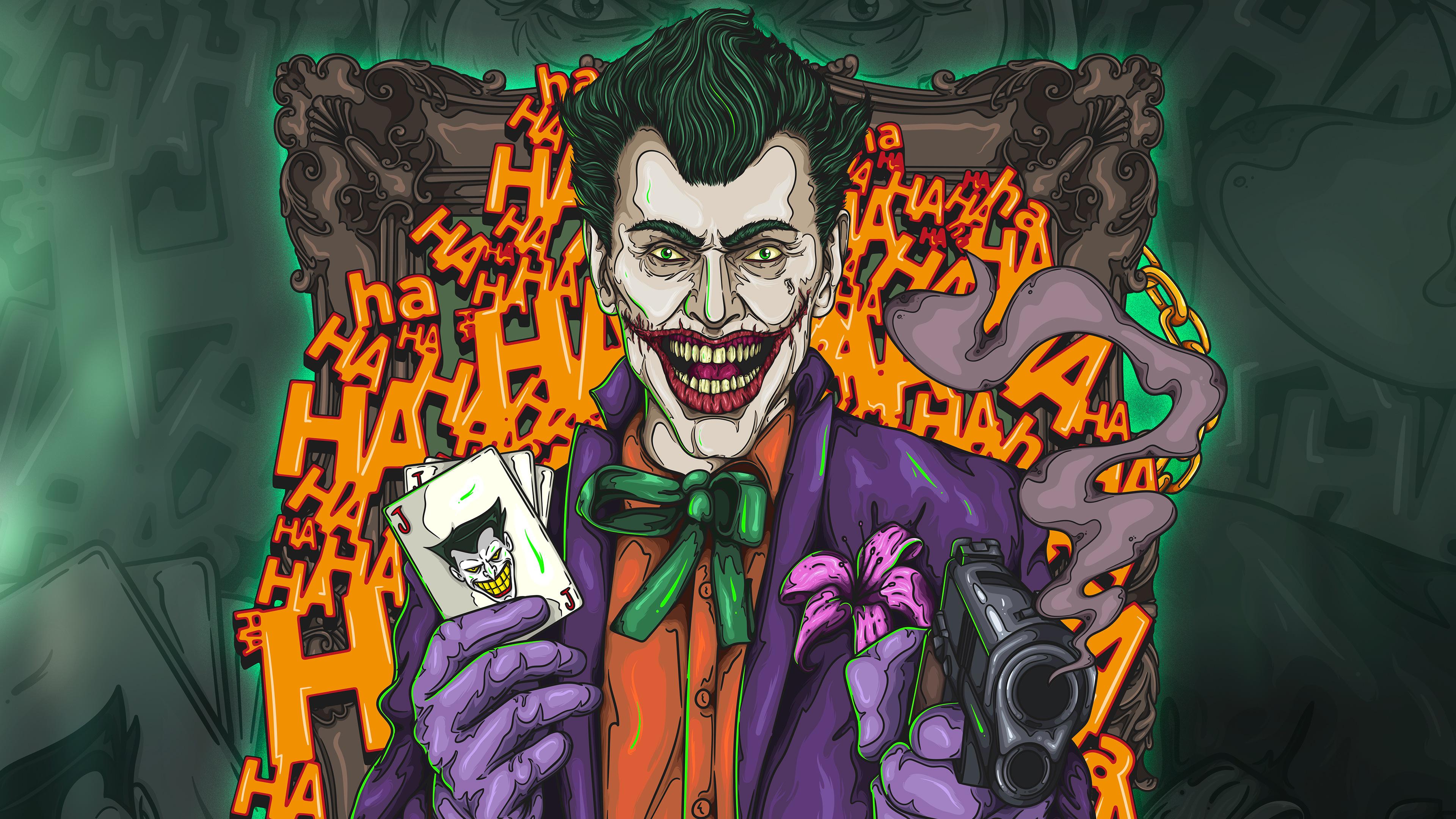 The joker 4k artwork hd superheroes 4k wallpapers for Joker wallpaper 4k