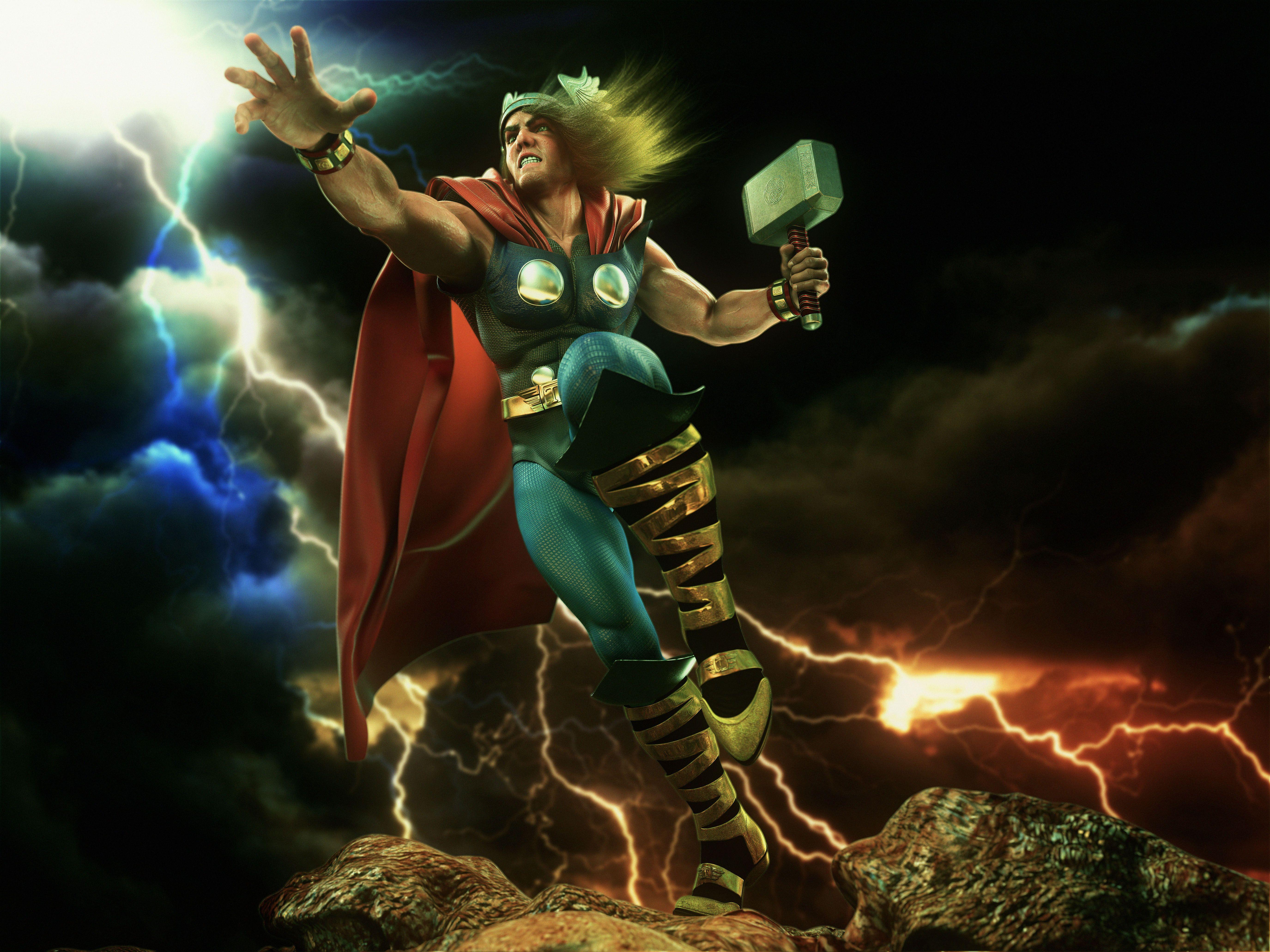 Thor digital art hd superheroes 4k wallpapers images - Thor art wallpaper ...