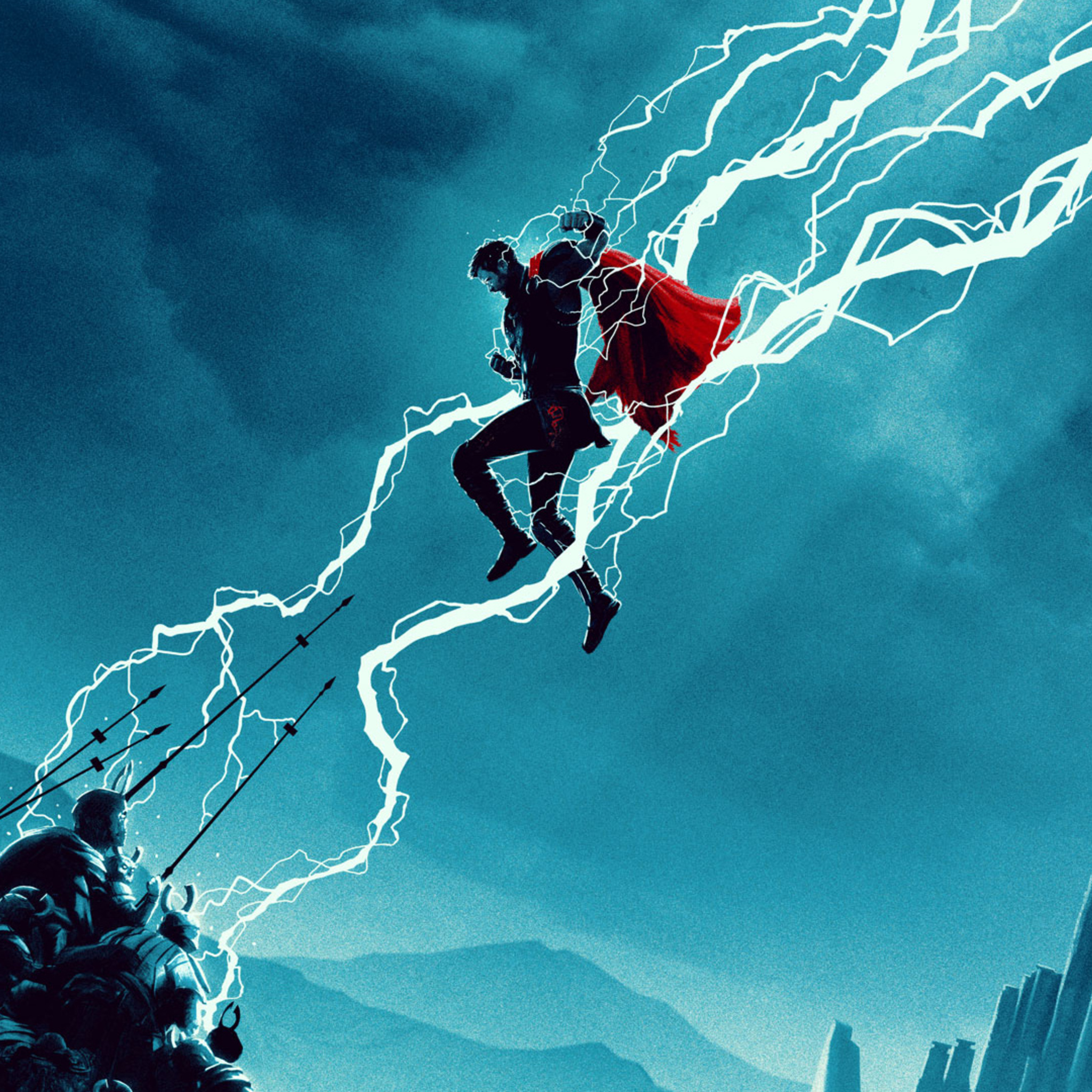 2048x2048 Thor Ragnarok Movie Artwork 2018 Ipad Air HD 4k ...
