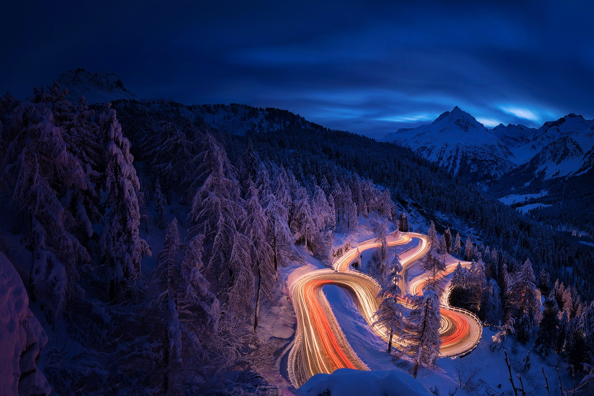 3840x2160 time lapse photography forest landscape mountain - Night mountain wallpaper 4k ...