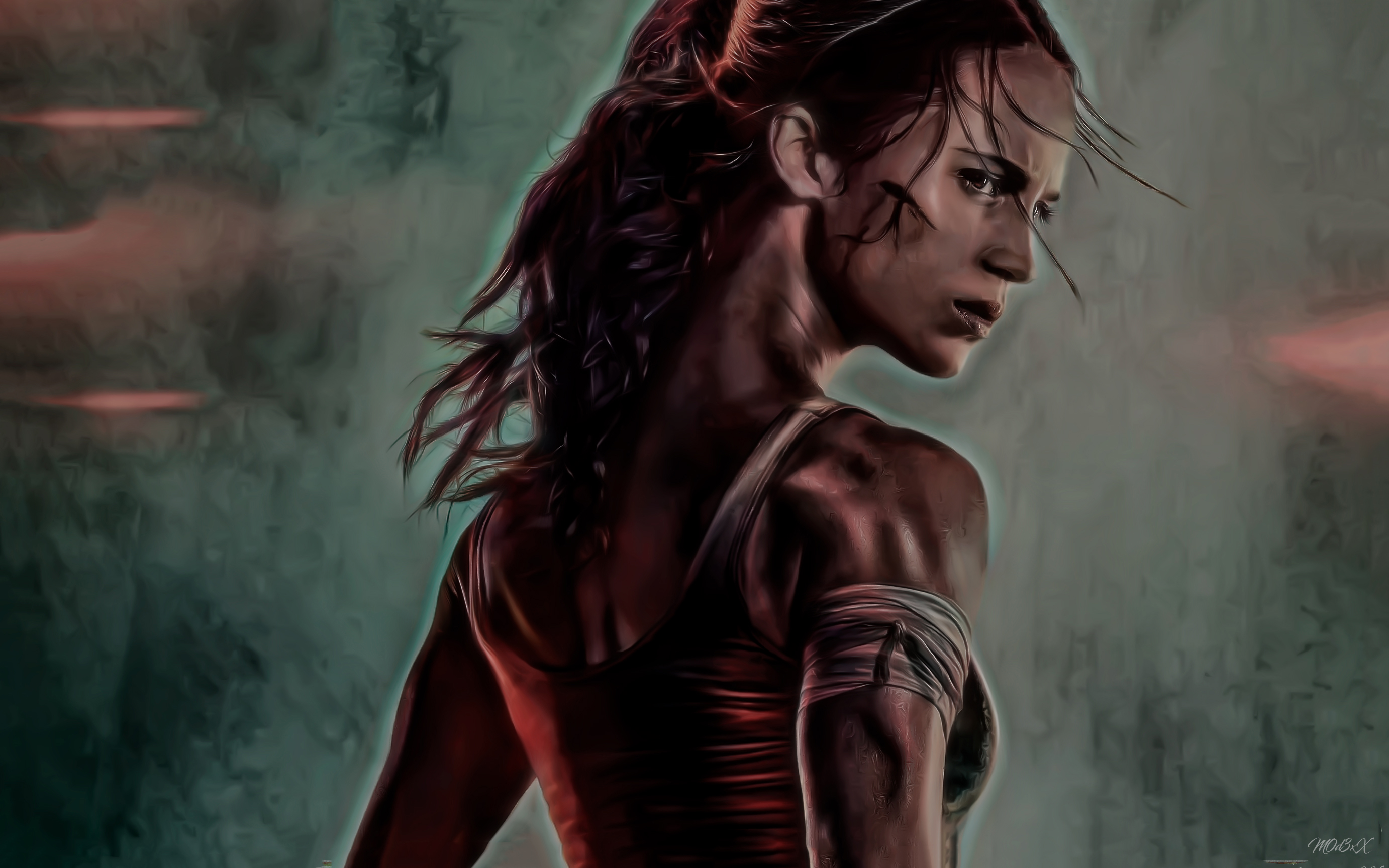 2932x2932 Pubg Android Game 4k Ipad Pro Retina Display Hd: 1920x1080 Tomb Raider 2018 Movie Alicia Vikander Artwork