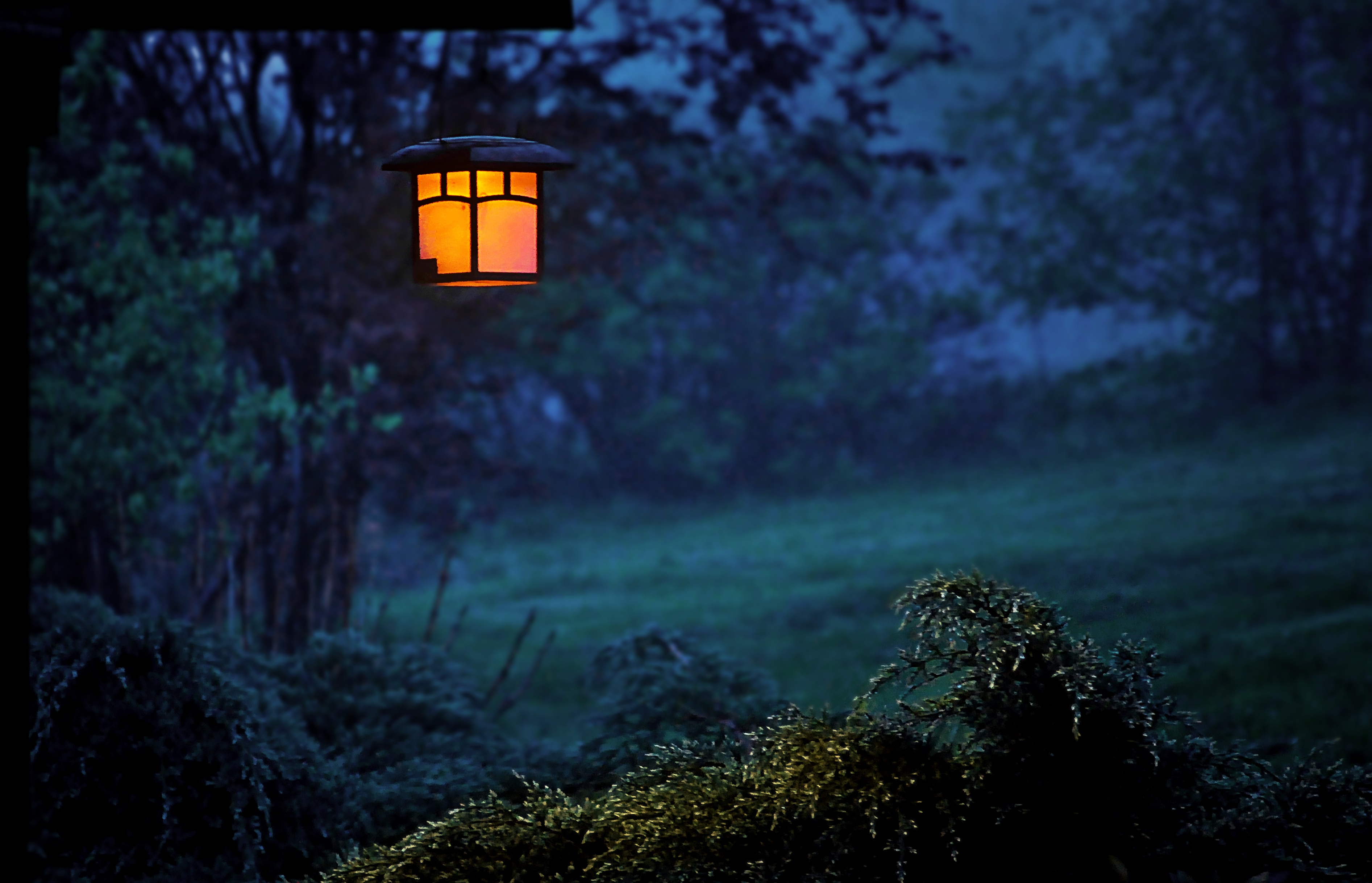Twilight Lamp Evening Outdoors, HD Photography, 4k ...