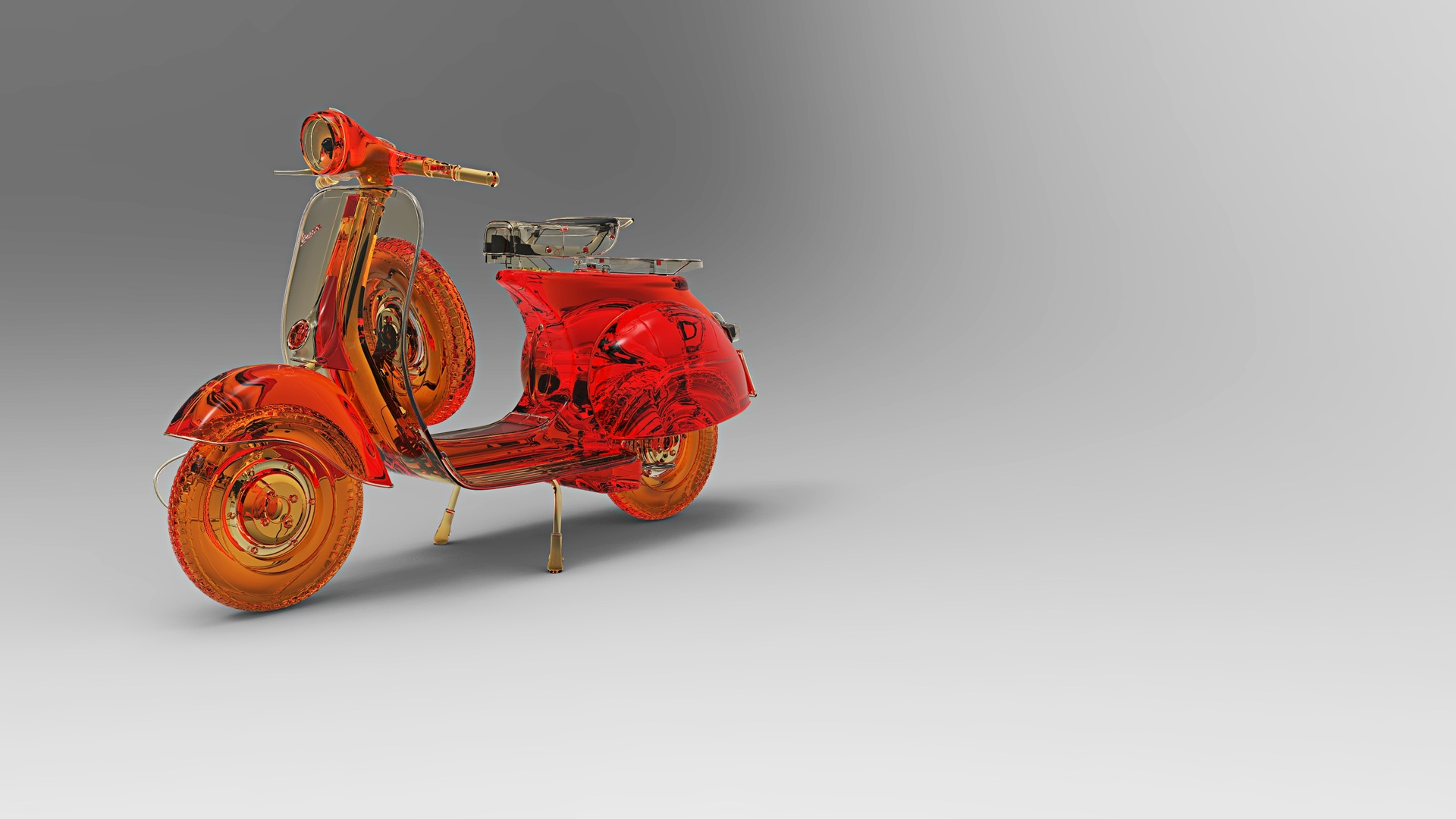1920x1080 Vespa Scooter Abstract Art Laptop Full HD 1080P
