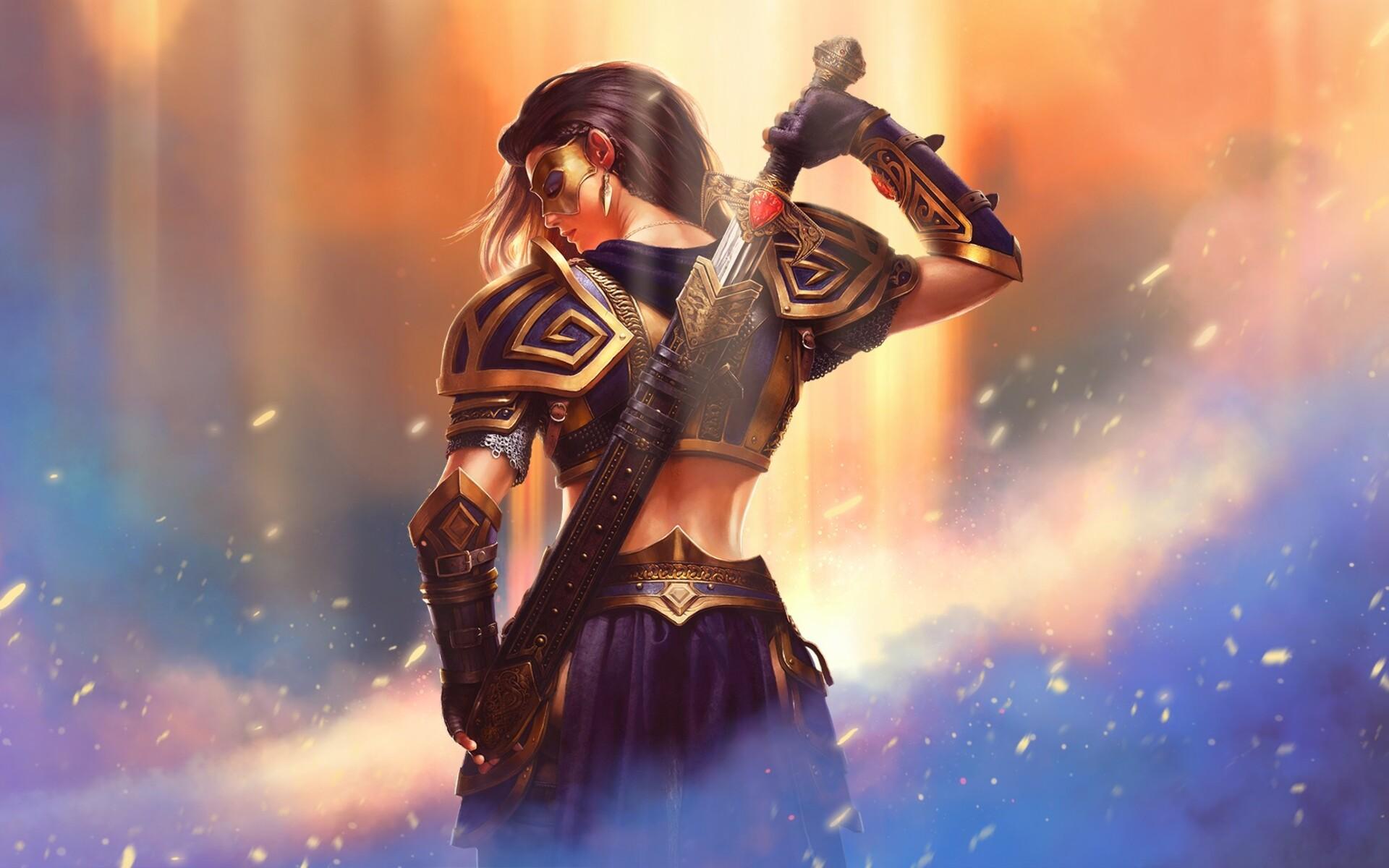 1920x1200 Warrior Fantasy Girl 1080P Resolution HD 4k ...