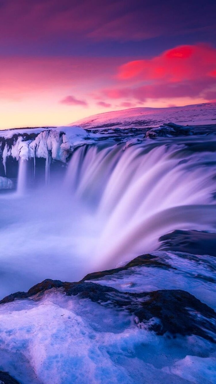 750x1334 waterfall iceland iphone 6 iphone 6s iphone 7 - Iceland iphone wallpaper ...