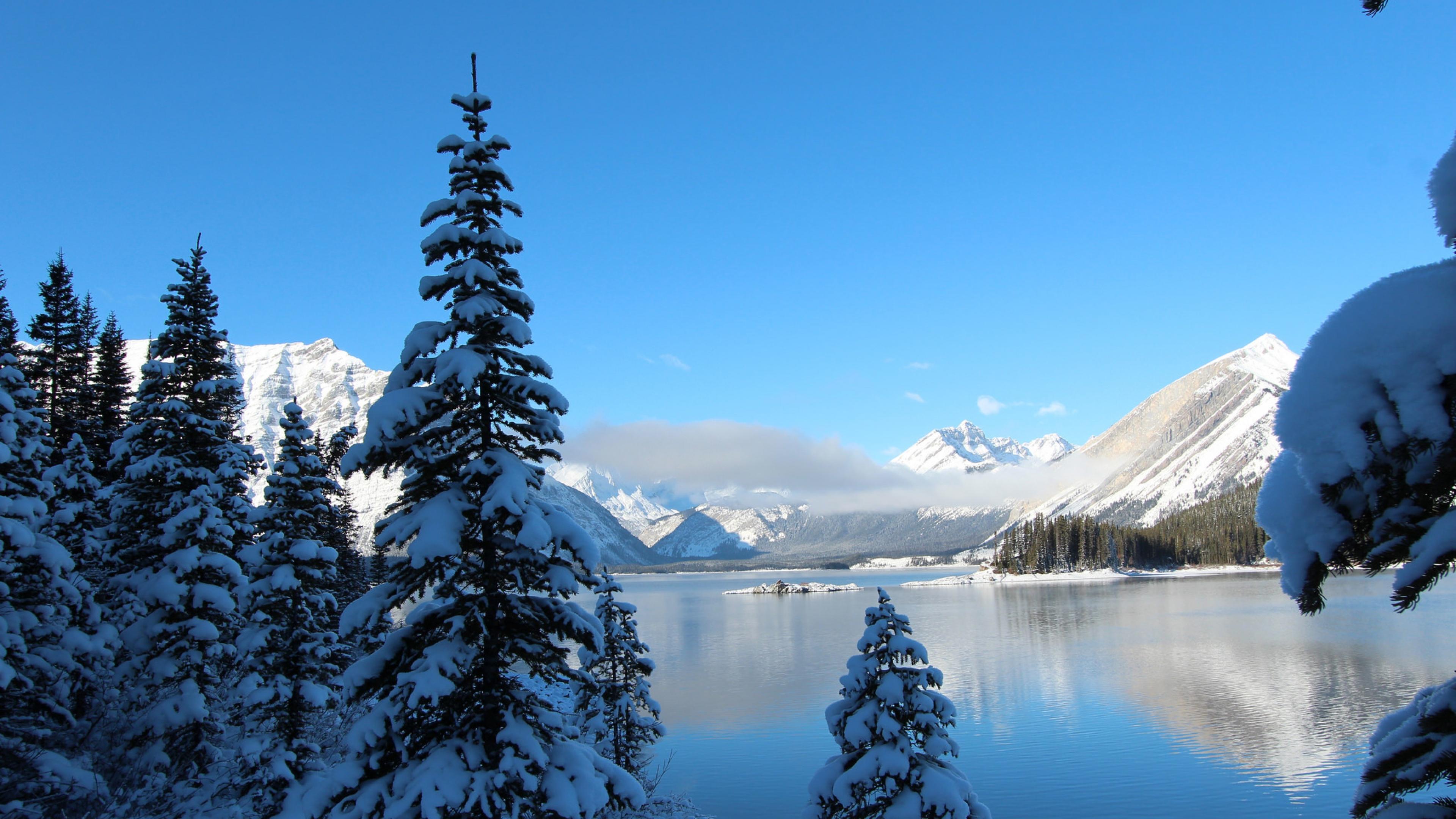 winter snow lake mountain - photo #9
