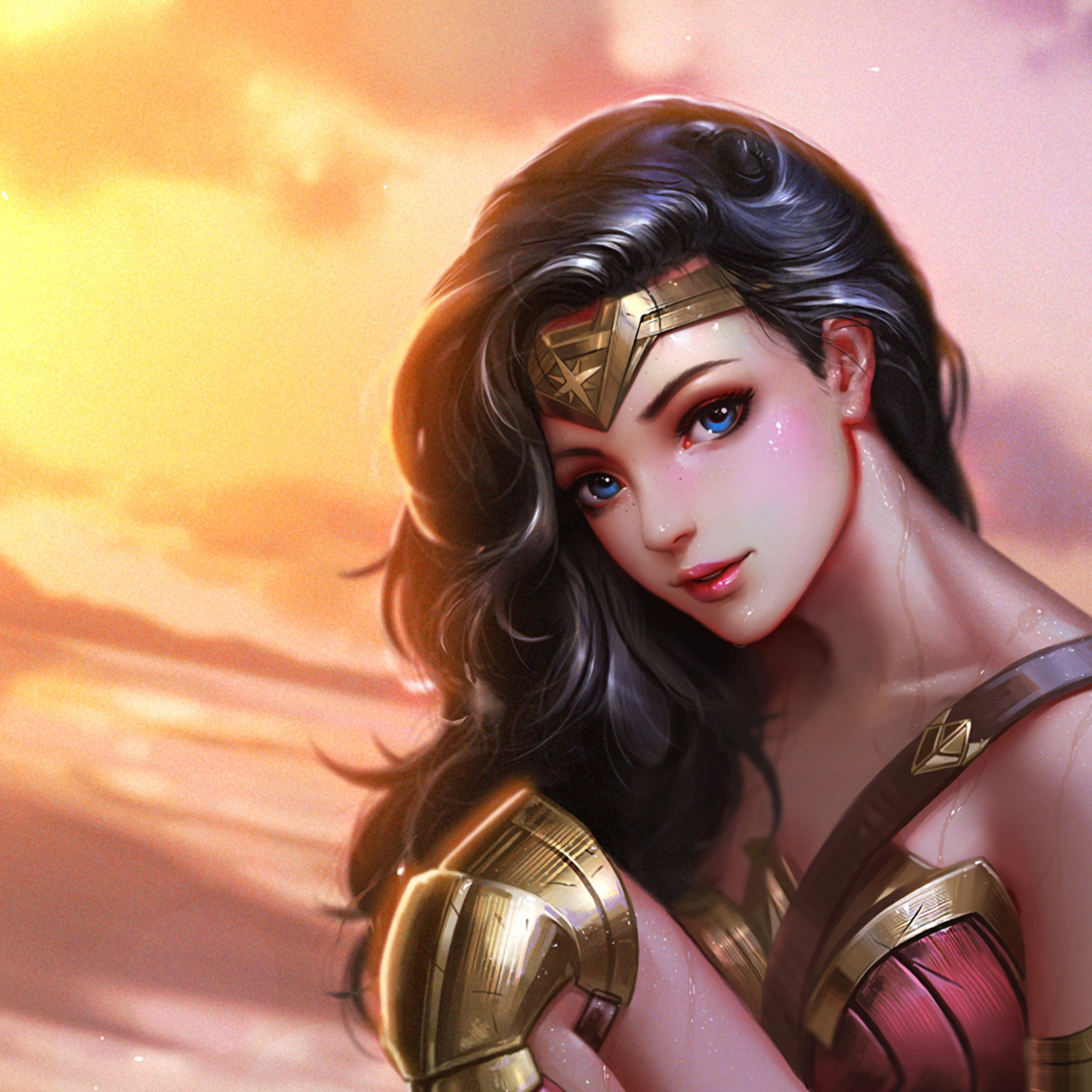 2048x2048 Wonder Woman Fan Art Ipad Air HD 4k Wallpapers