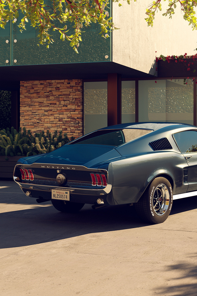 640x960 1967 Ford Mustang Cgi Iphone 4 Iphone 4s Hd 4k