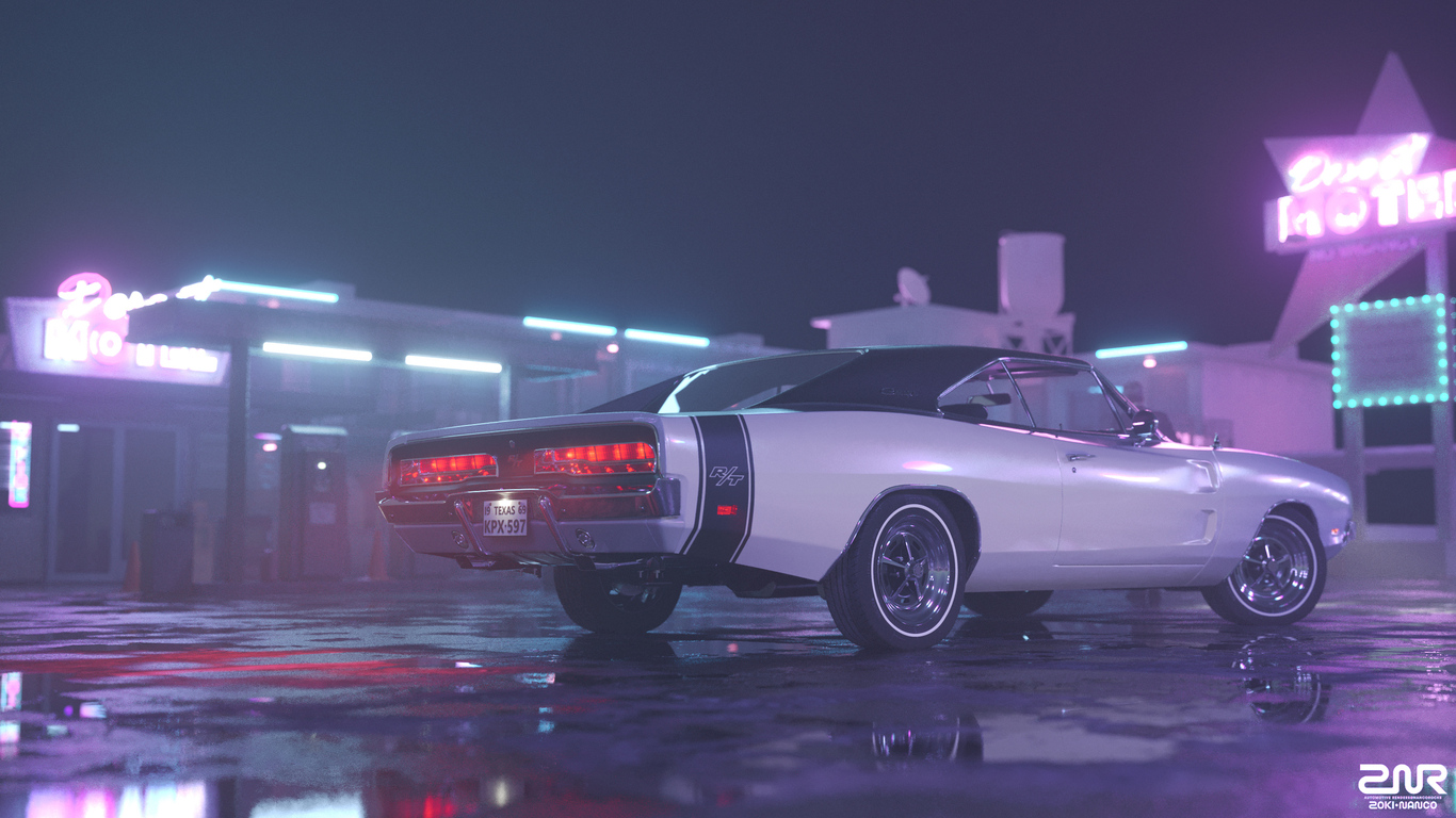 1366x768 1969 Dodge Charger Rt Rear 1366x768 Resolution Hd 4k