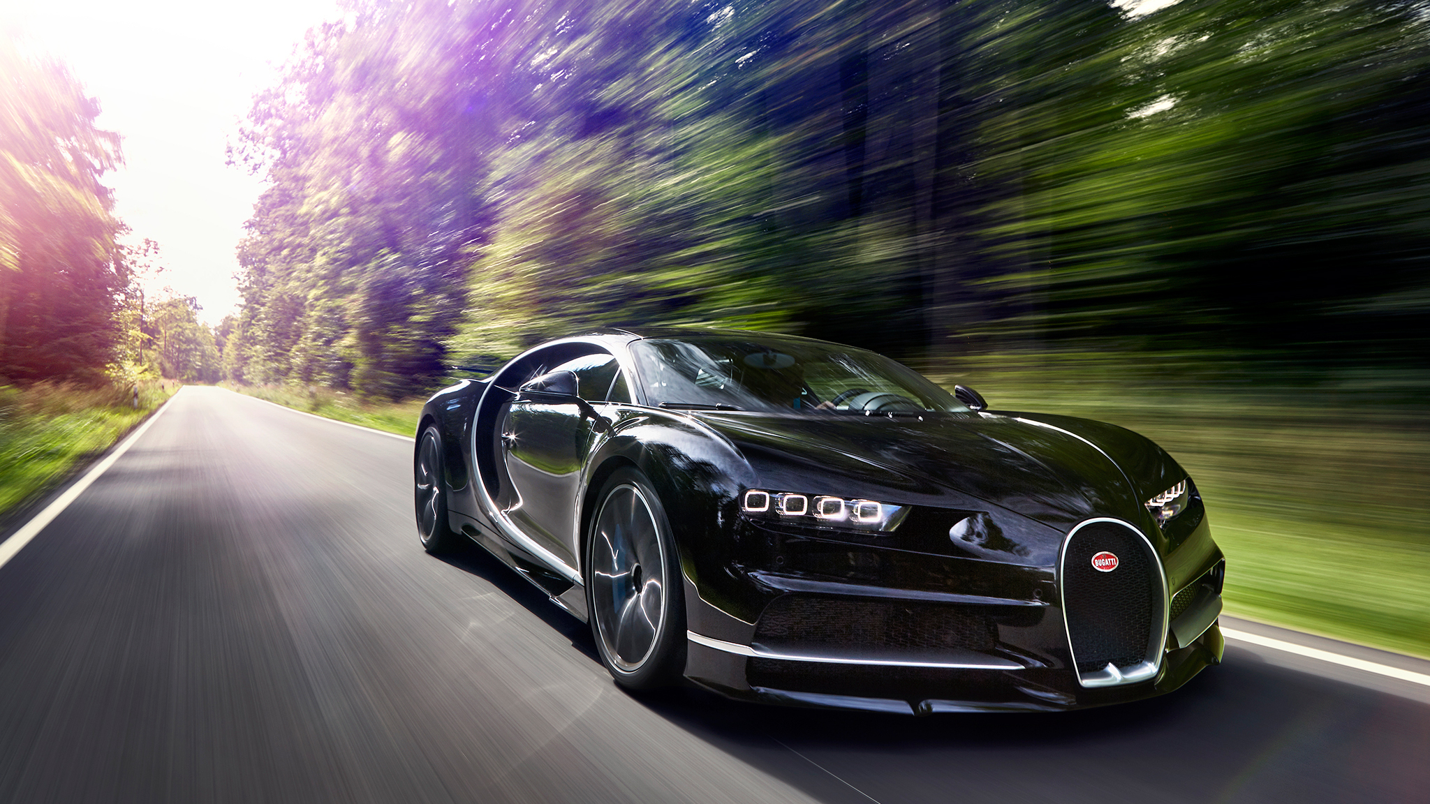 2048x1152 2017 Bugatti Chiron In Motion 2048x1152