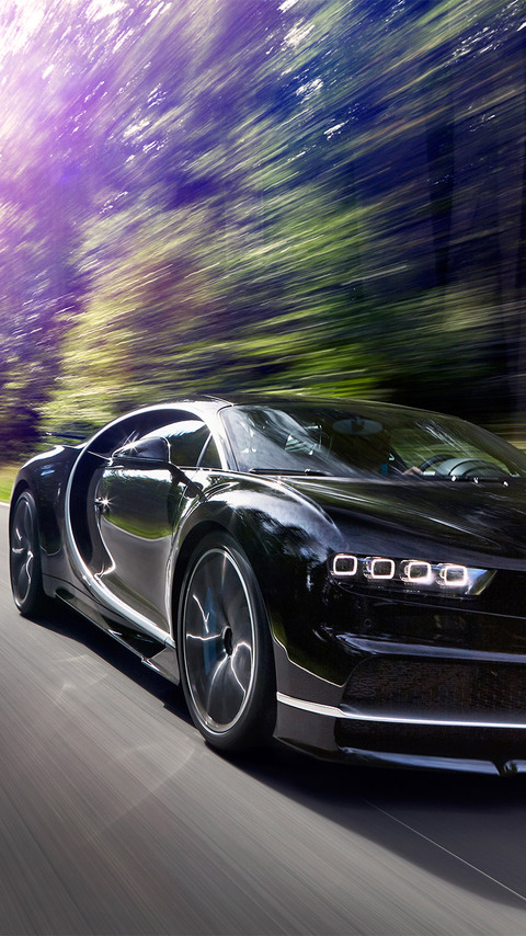 480x854 2017 Bugatti Chiron In Motion Android One Hd 4k Wallpapers