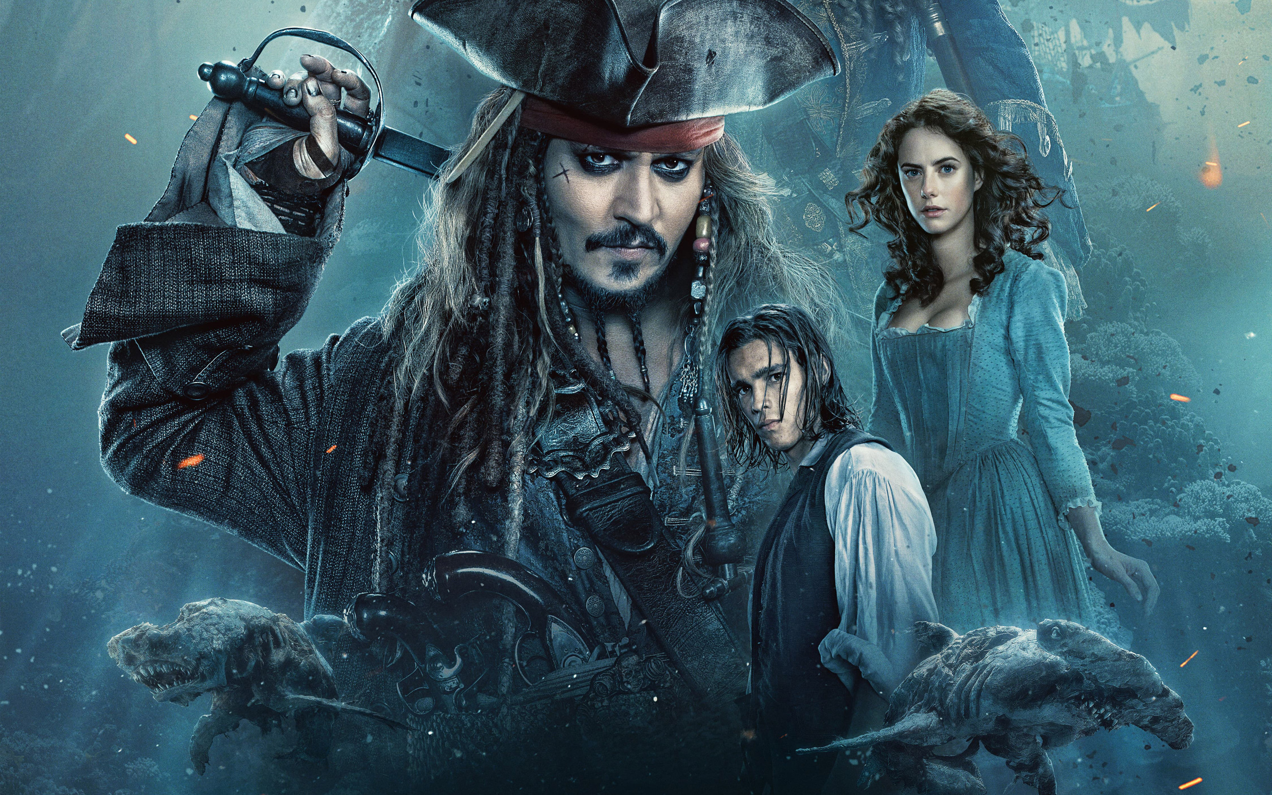 2560x1600 2017 Pirates Of The Caribbean Dead Men Tell No Tales