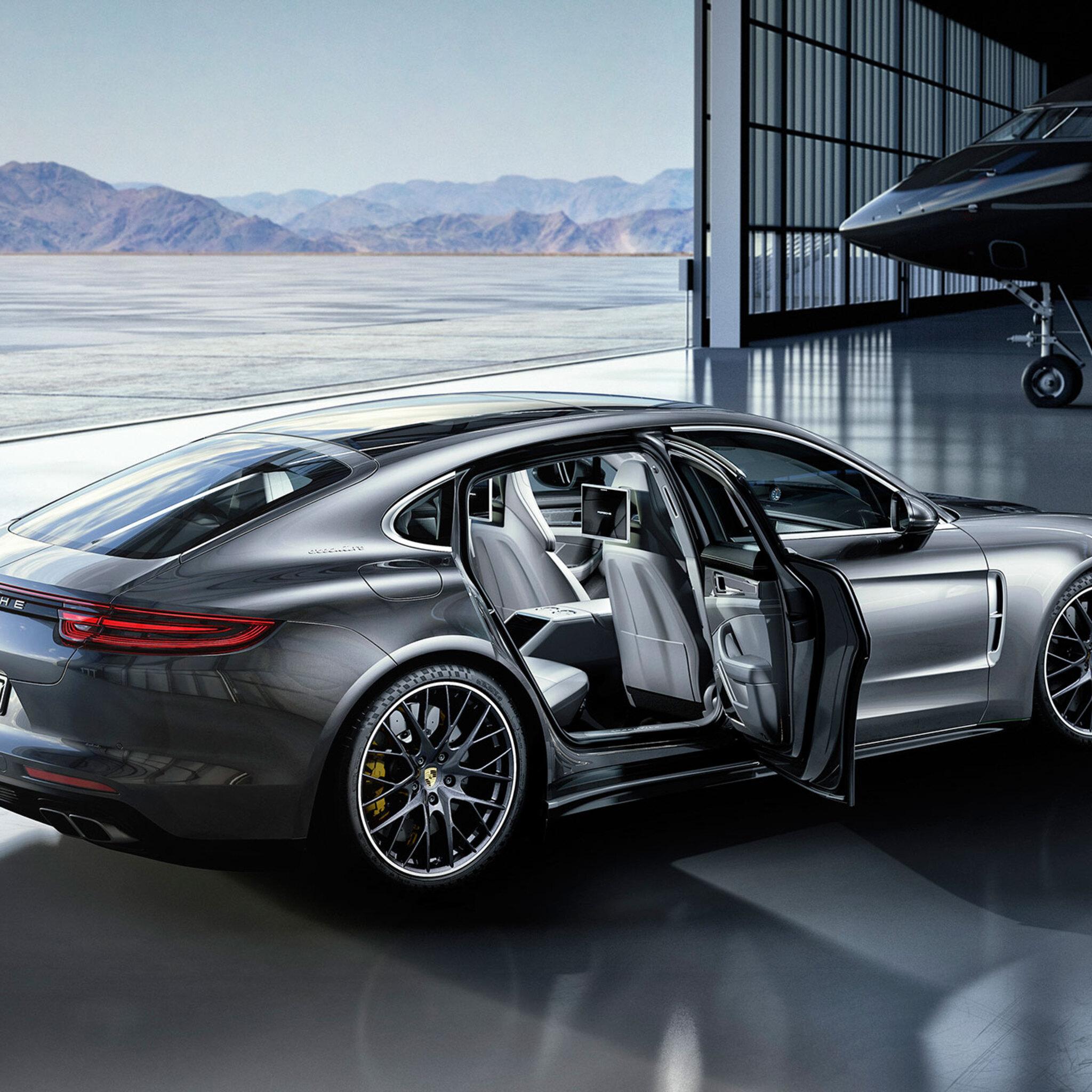 Porsche Car Wallpaper: 2048x2048 2017 Porsche Panamera Turbo Ipad Air HD 4k