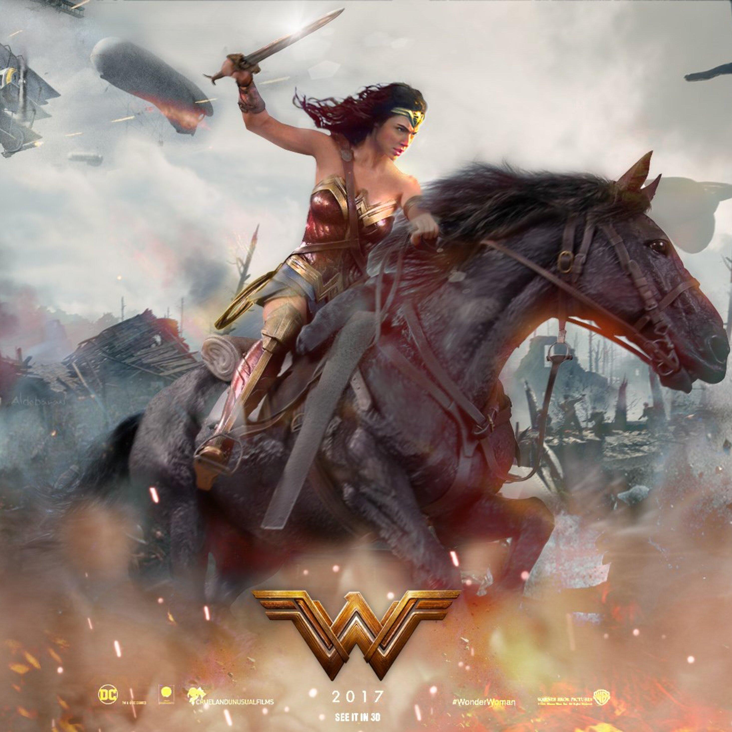 2932x2932 2017 Wonder Woman Movie Fan Art Ipad Pro Retina