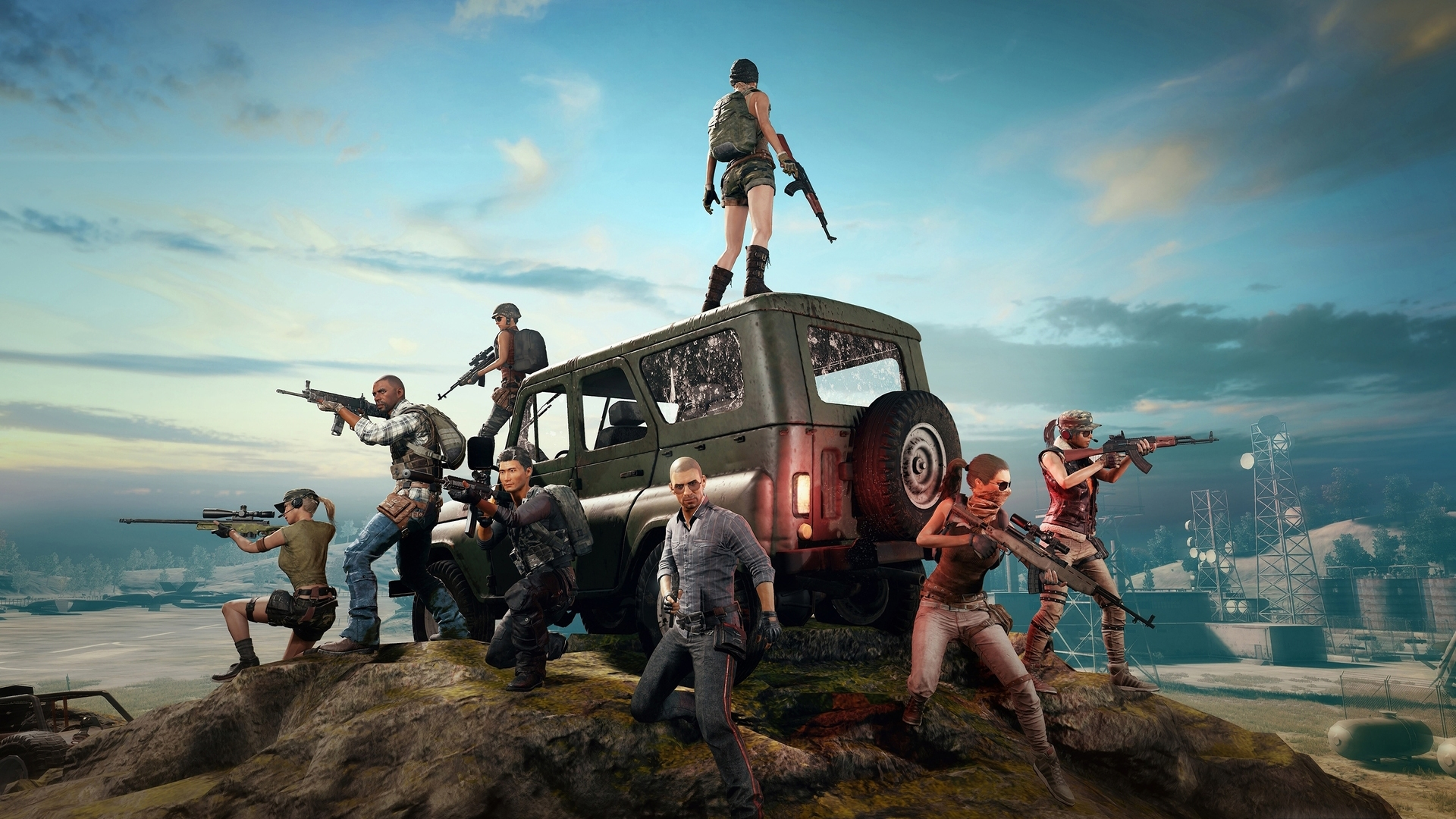 Download Pubg Mobile Wallpapers 720p 1080p 4k: 1920x1080 2018 4k PlayerUnknowns Battlegrounds Laptop Full