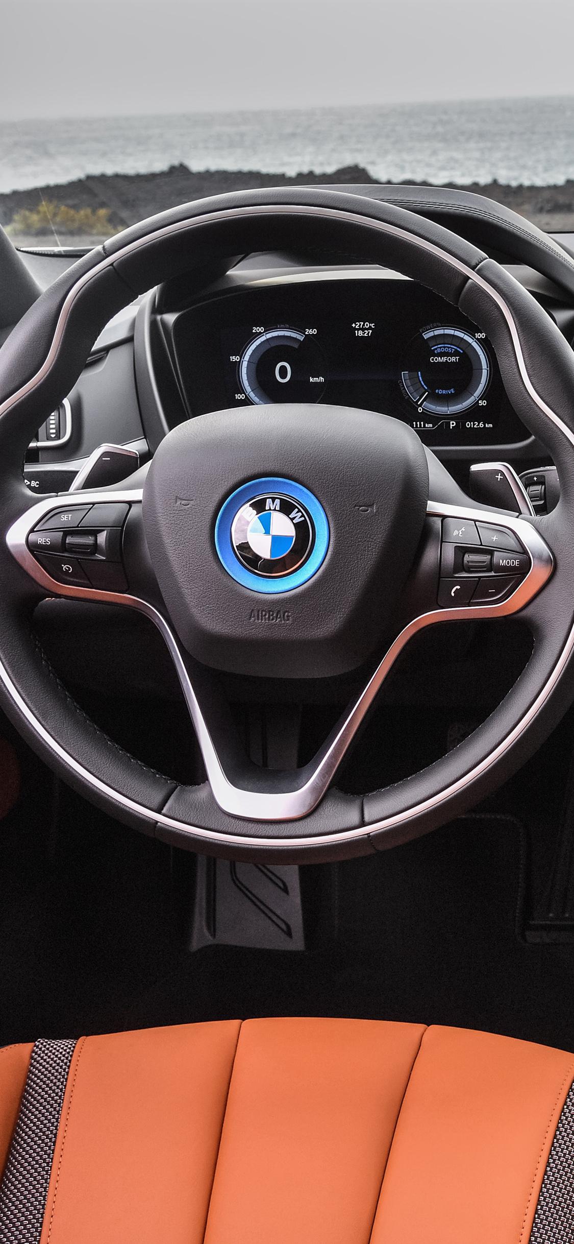 1125x2436 2018 bmw i8 roadster interior iphone x iphone 10 for Interior iphone x