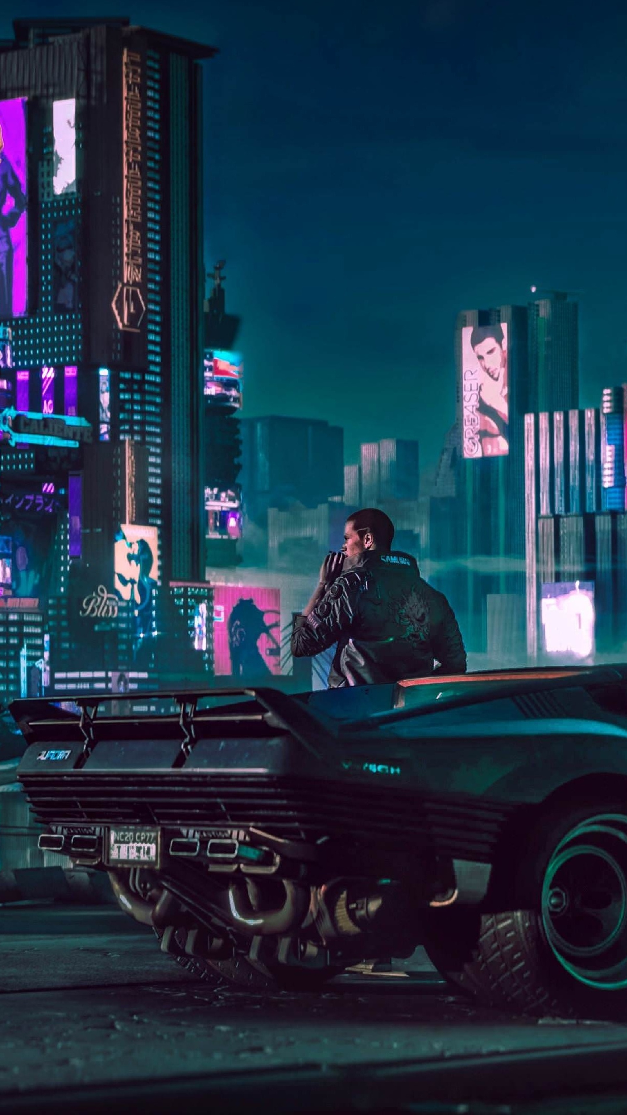 2160x3840 2018 Cyberpunk 2077 4k Sony Xperia X,XZ,Z5 ...