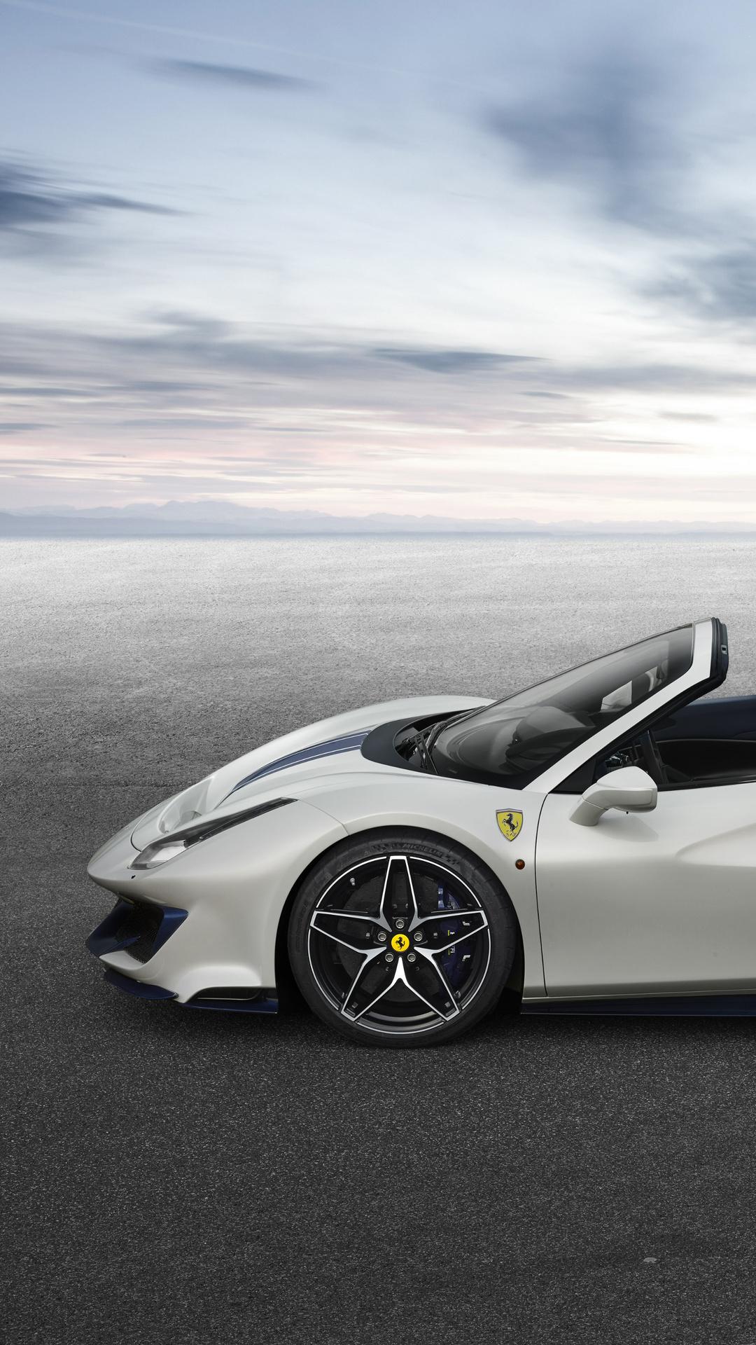1080x1920 2018 Ferrari 488 Pista Spider Side View Iphone 7 ...