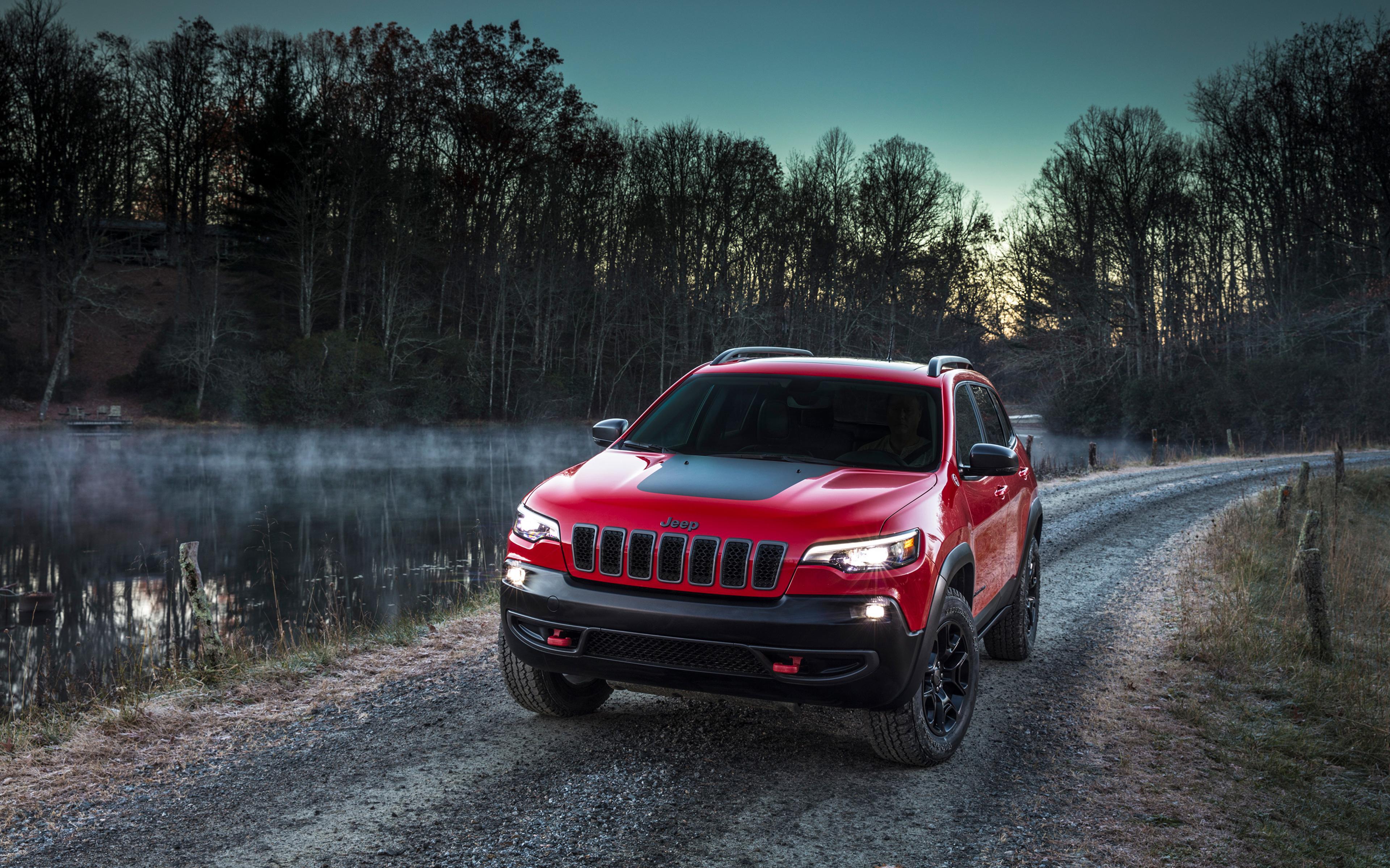 3840x2400 2018 Jeep Cherokee Trailhawk 4k HD 4k Wallpapers ...