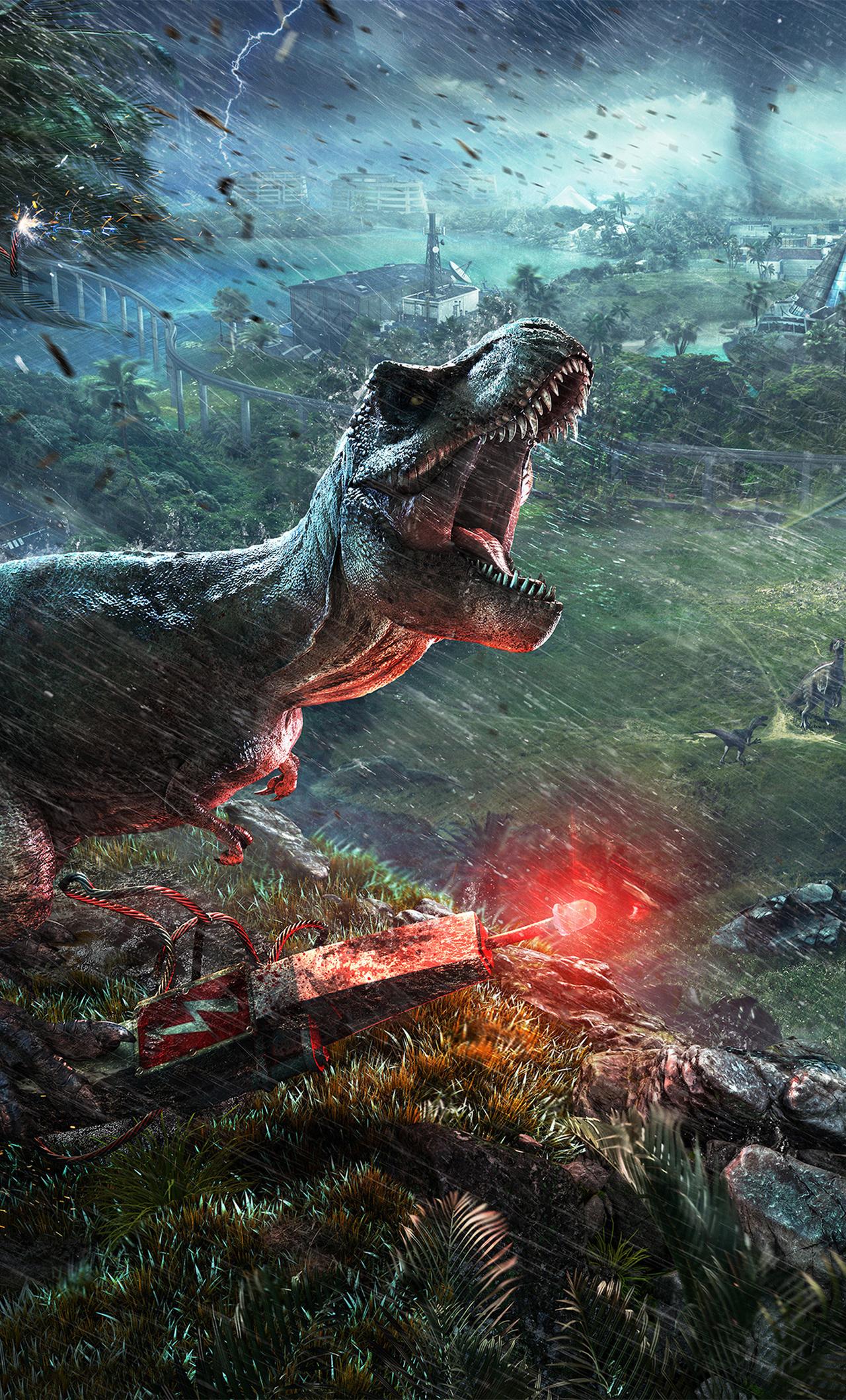1280x2120 2018 Jurassic World Evolution 4k iPhone 6+ HD 4k ...