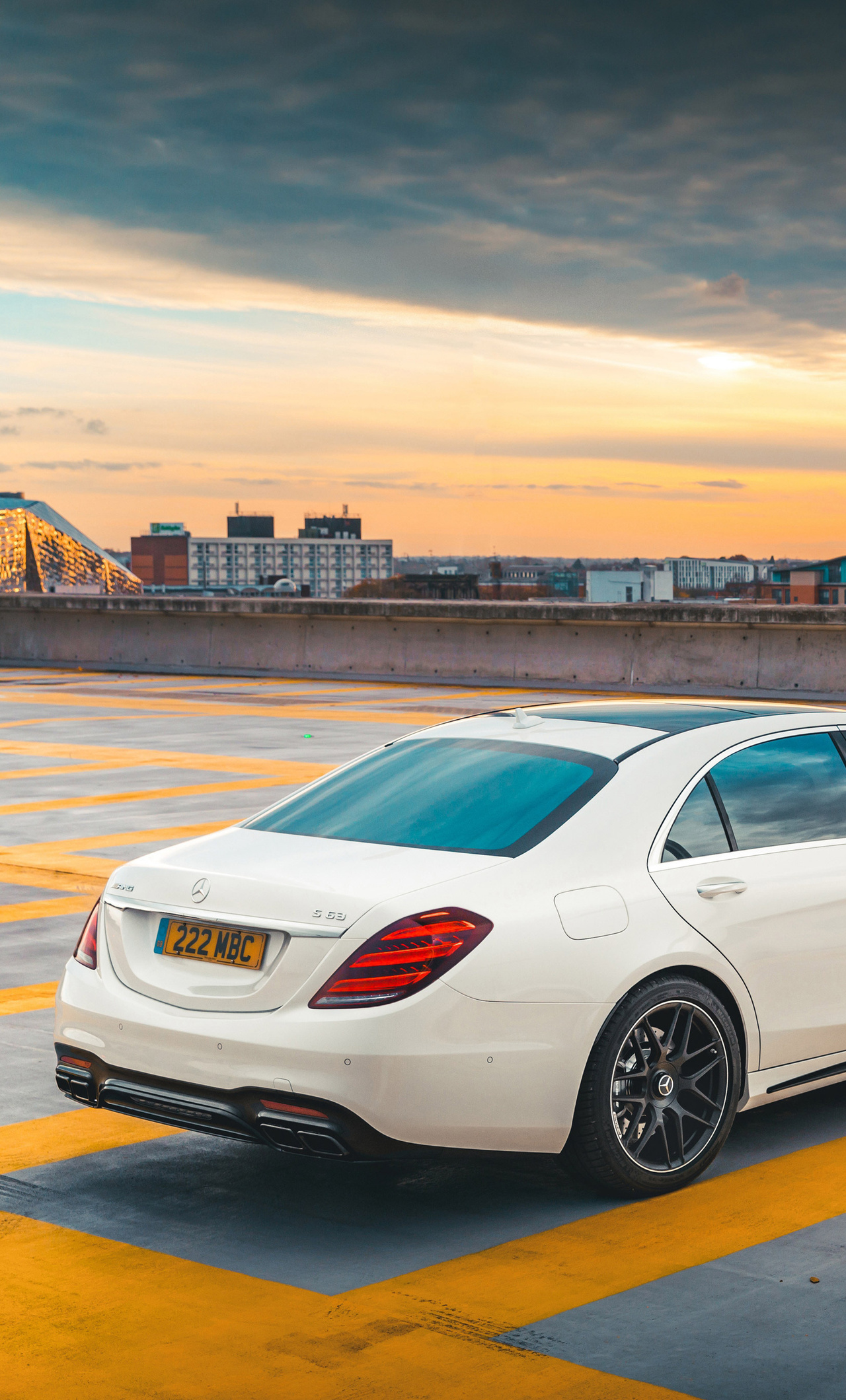 1280x2120 2018 Mercedes AMG S63 Back View iPhone 6+ HD 4k ...