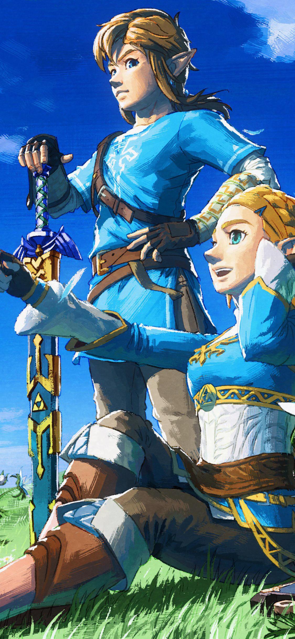1125x2436 2018 The Legend Of Zelda Breath Of The Wild 4k