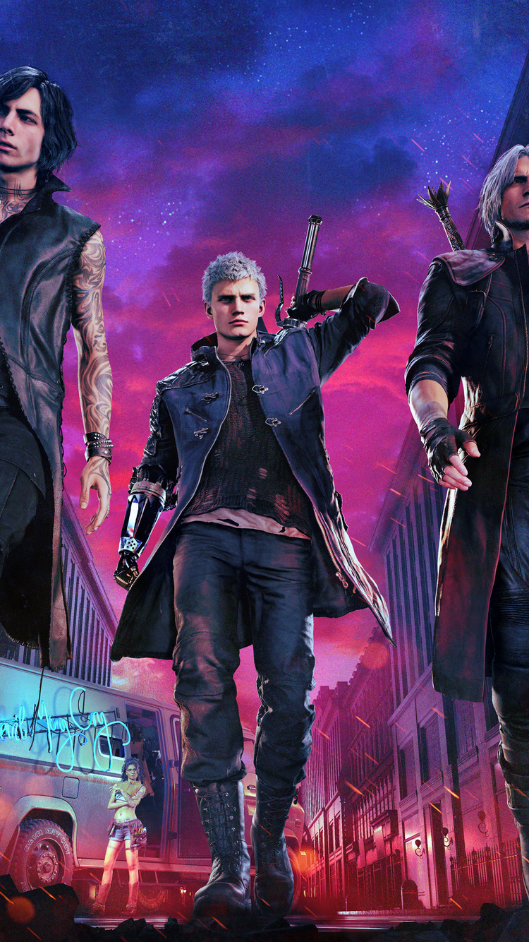 750x1334 2019 Devil May Cry 5k Iphone 6 Iphone 6s Iphone 7 Hd 4k