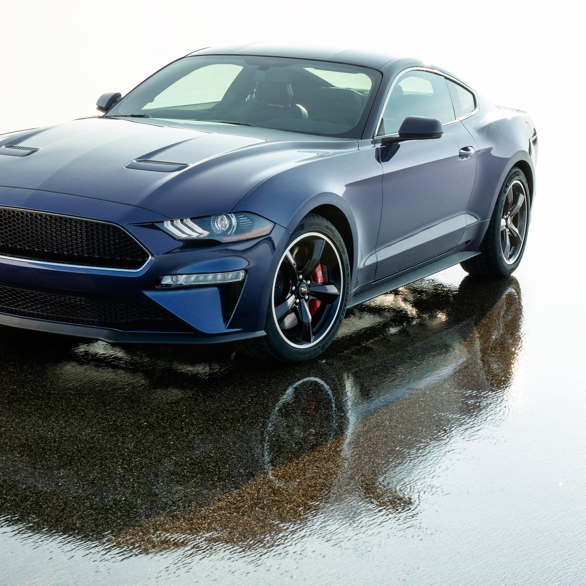 2048x2048 2019 Ford Mustang Bullitt Kona Blue Ipad Air HD