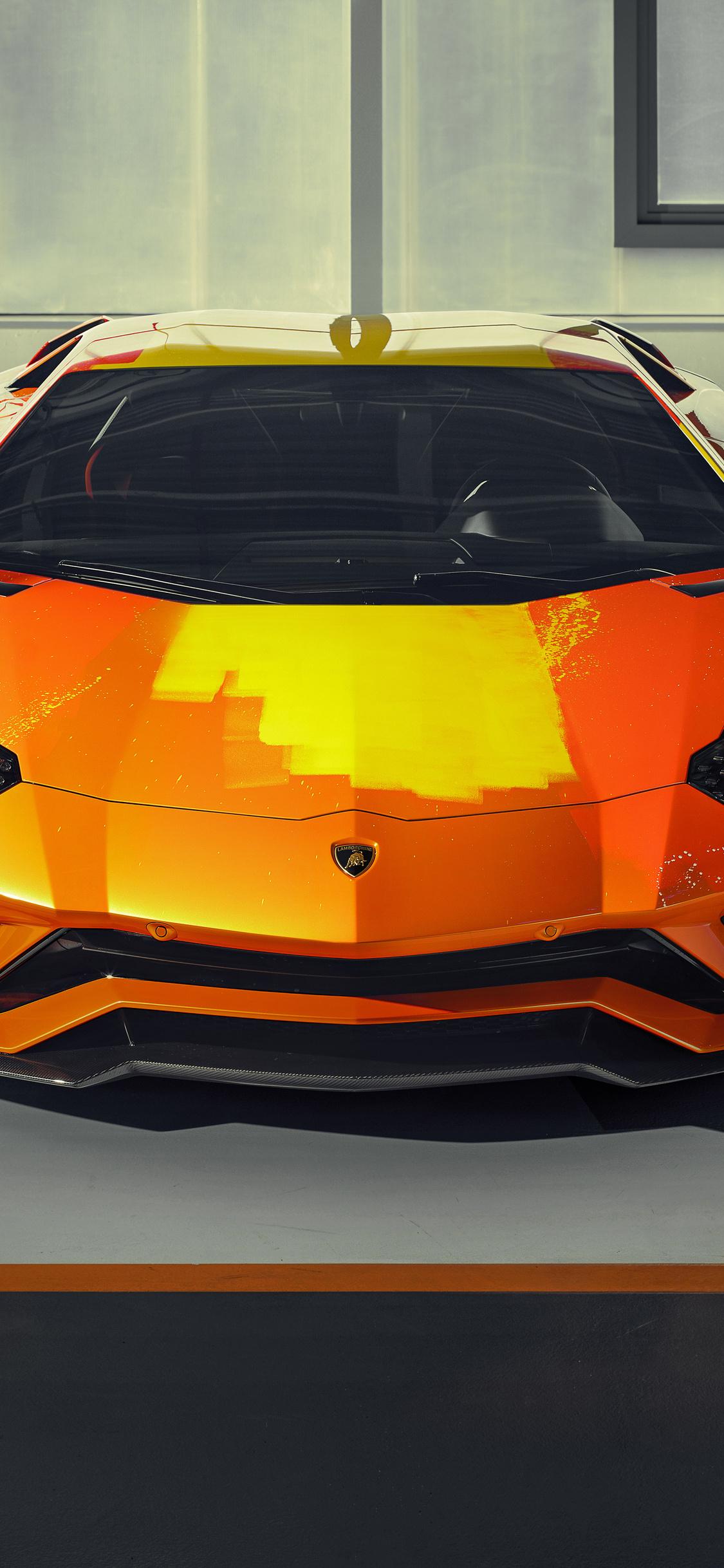 1125x2436 2019 Lamborghini Aventador S Front View Iphone Xs