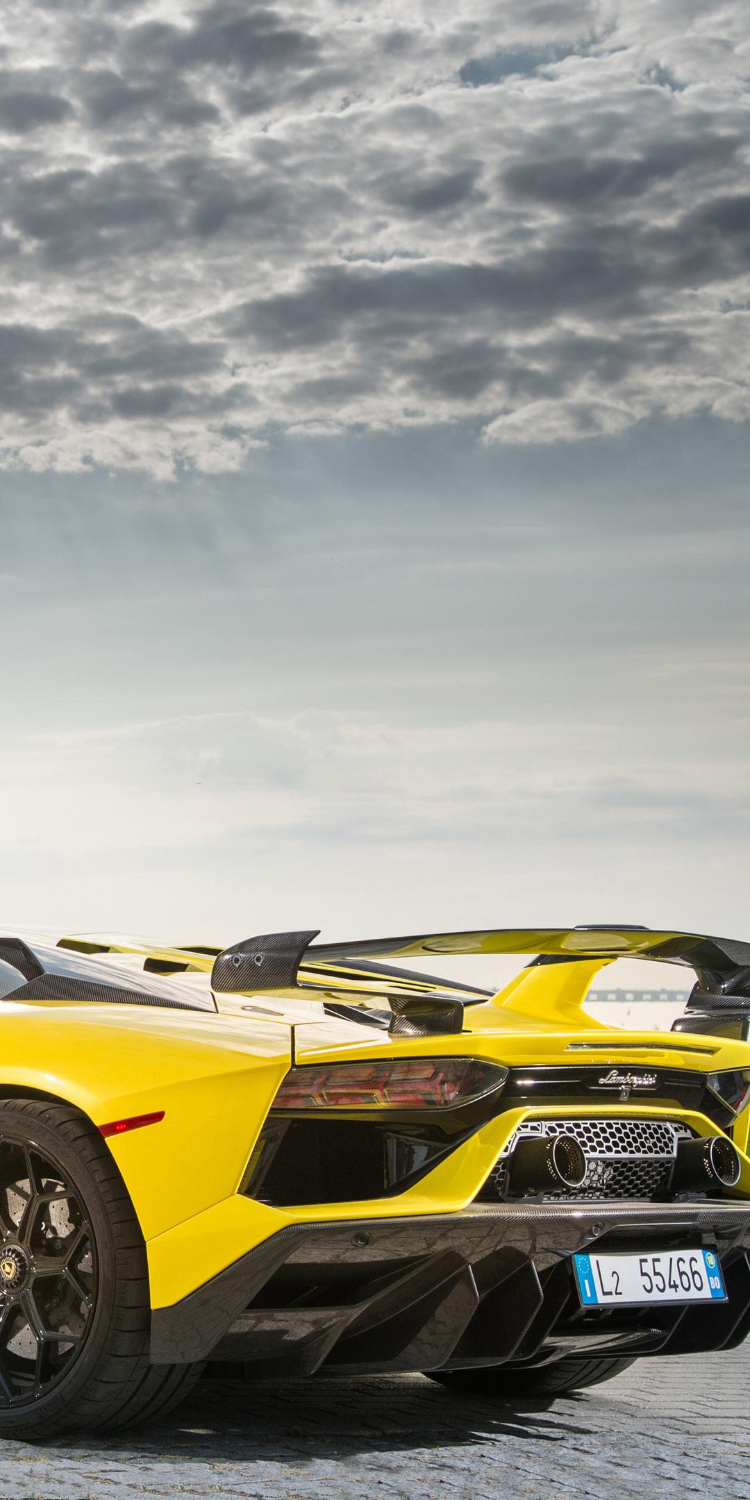 1080x2160 2019 Lamborghini Aventador Svj Rear One Plus 5t Honor 7x