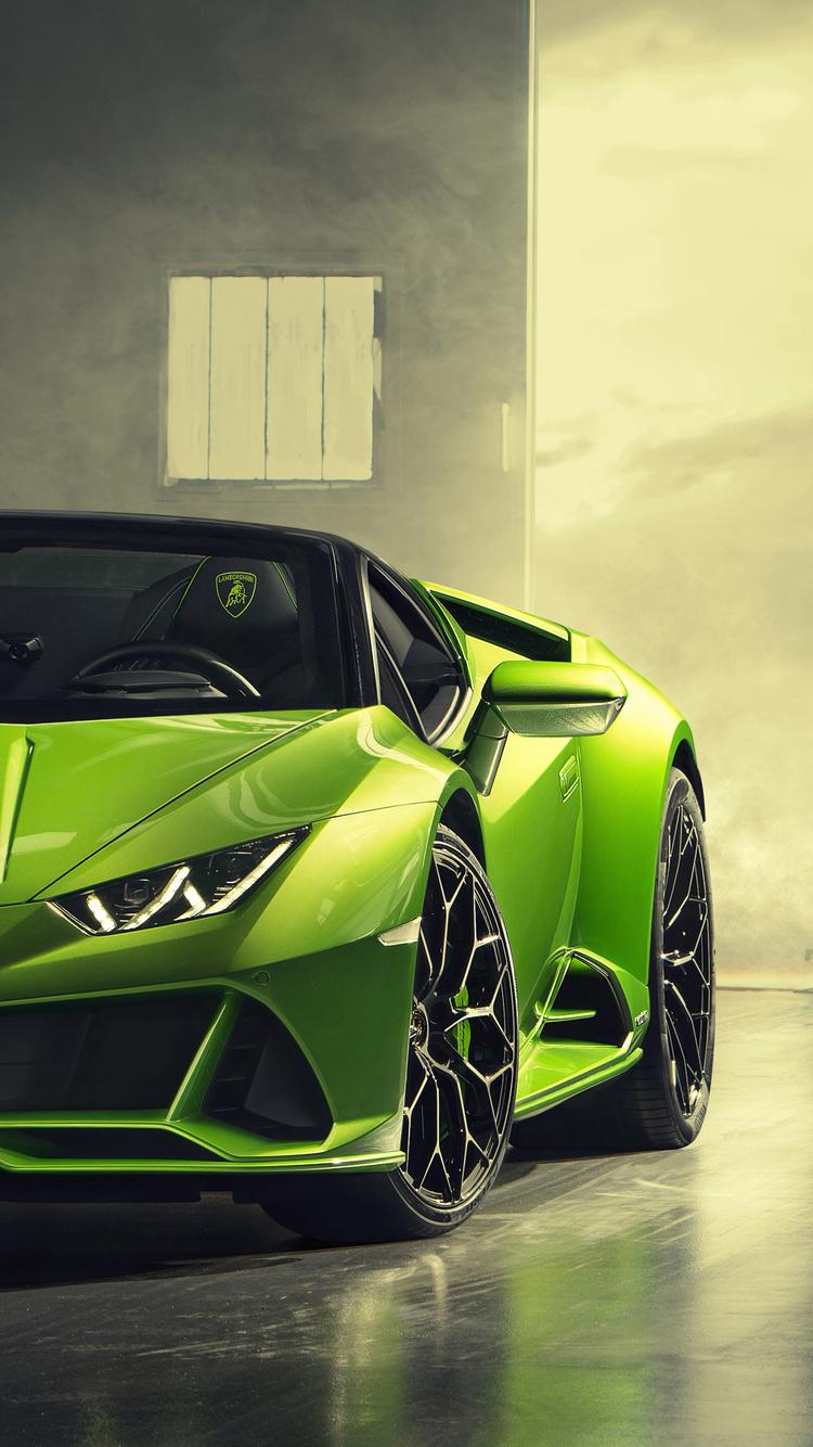 750x1334 2019 Lamborghini Huracan Evo Spyder Front iPhone 6