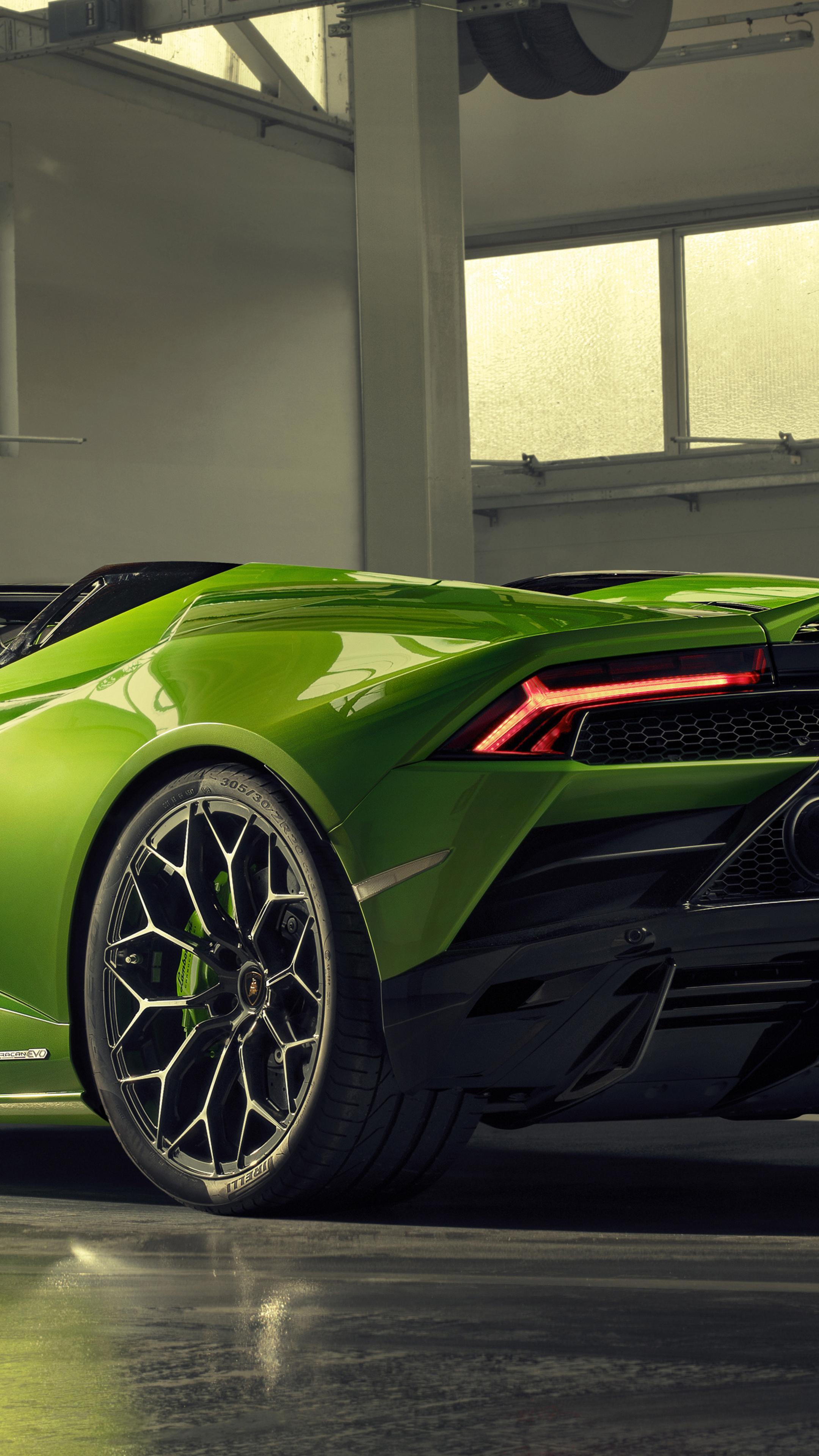2160x3840 2019 Lamborghini Huracan Evo Spyder Rear View Sony Xperia