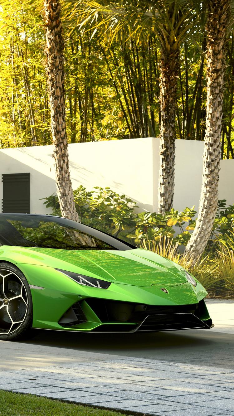 750x1334 2019 Lamborghini Huracan Evo Spyder iPhone 6