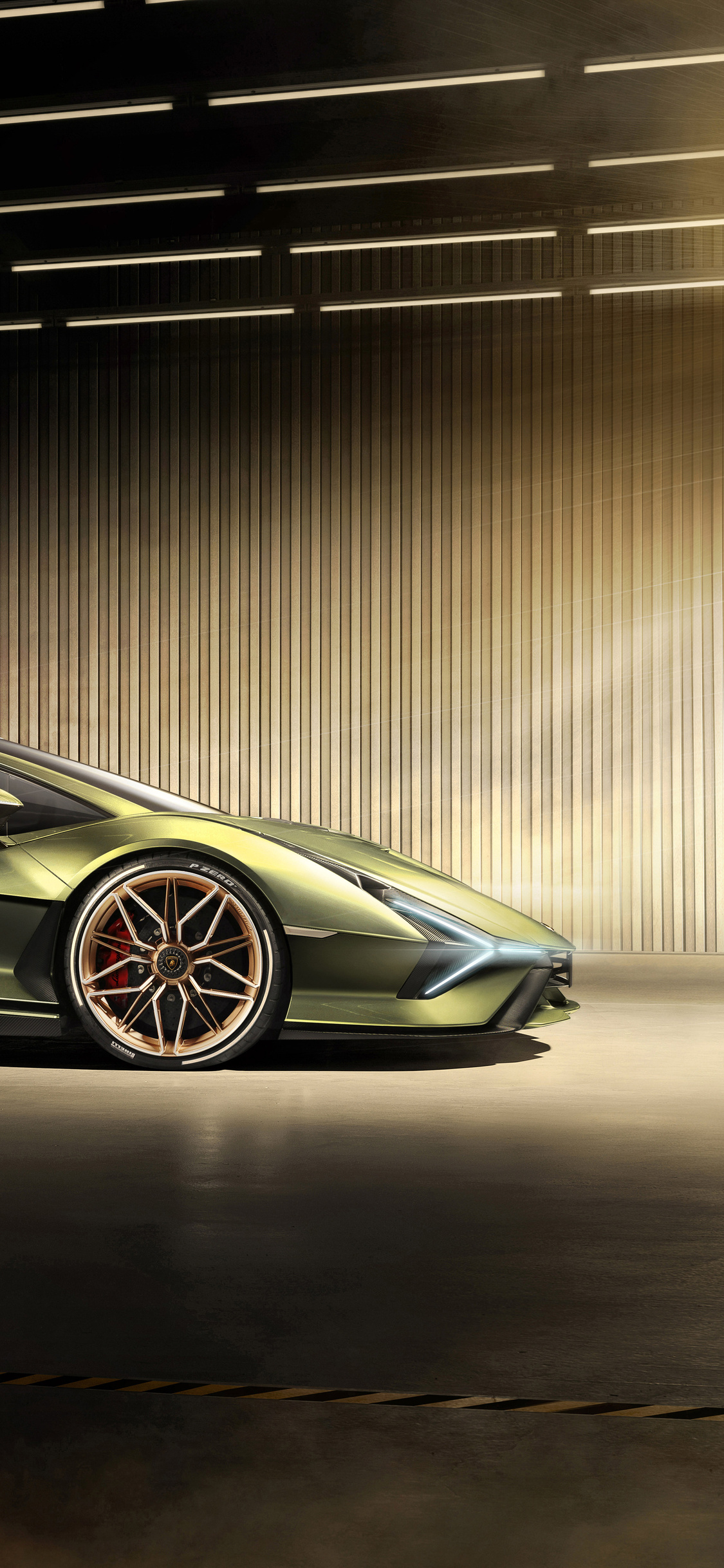 1125x2436 2019 Lamborghini Sian Side View Iphone XS,Iphone