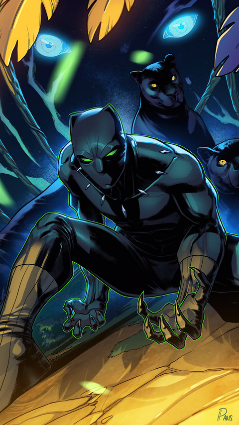 480x854 2020 Black Panther Art 4k Android One HD 4k ...